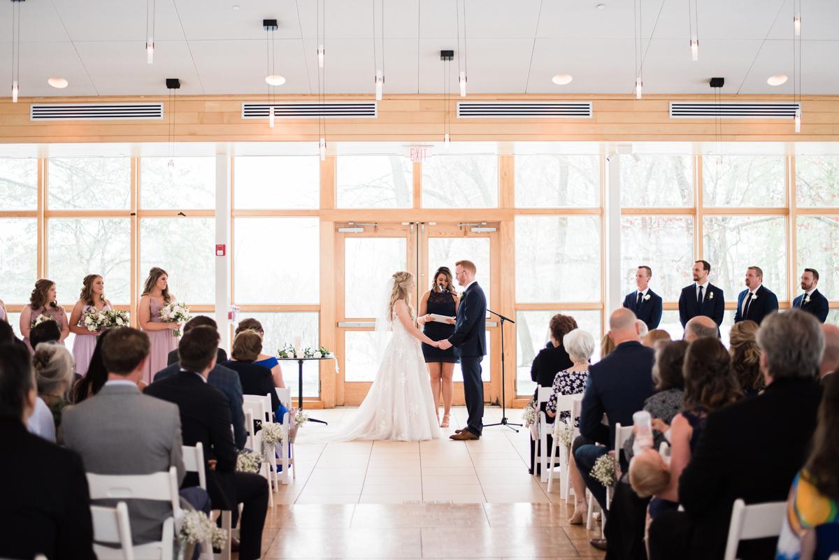 Wedding ceremony at Danada House.