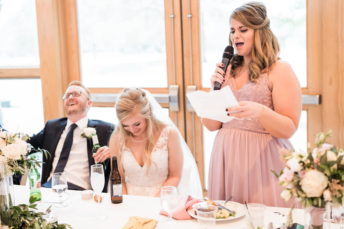 Maid of honor speech.