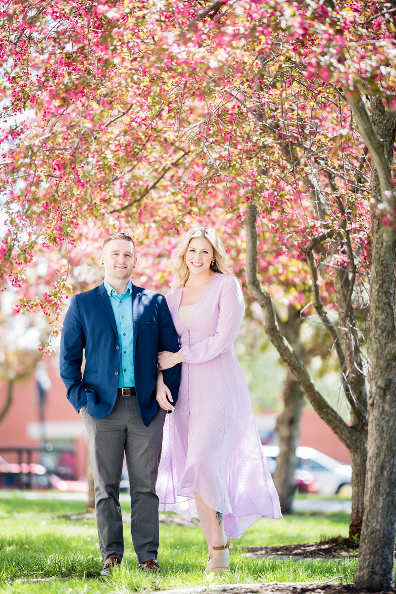 Downtown Valparaiso, Indiana. Engagement photography by Two Birds Photography. Classic, low-key, and natural. Serving Chicago and the suburbs.