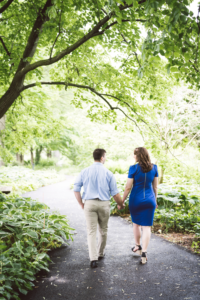 Morton Arboretum, Lisle, IL. Engagement photography by Two Birds Photography. Classic, low-key, and natural. Serving Chicago and the suburbs.
