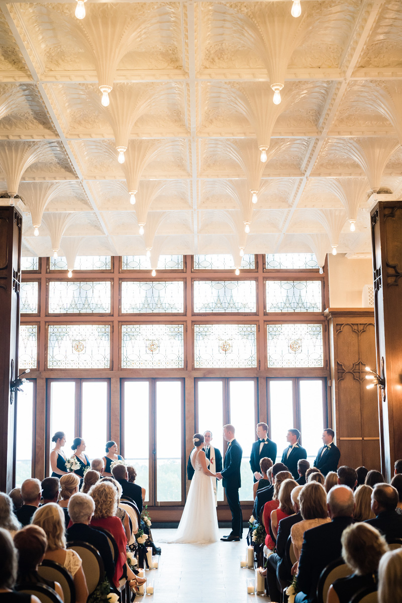 Chicago Athletic Association, Chicago, IL. Wedding photography by Two Birds Photography. Classic, low-key, and natural. Serving Chicago and the suburbs.