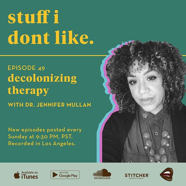 Did you guys check out part 1 of my interview with the amazing @decolonizingtherapy yet? We had such an enlightening conversation, I decided to split our chat into two parts so that you guys could hear the whole thing! Part 2 drops tonight at 9:30pm PST, but listen to part 1 in the meantime!
