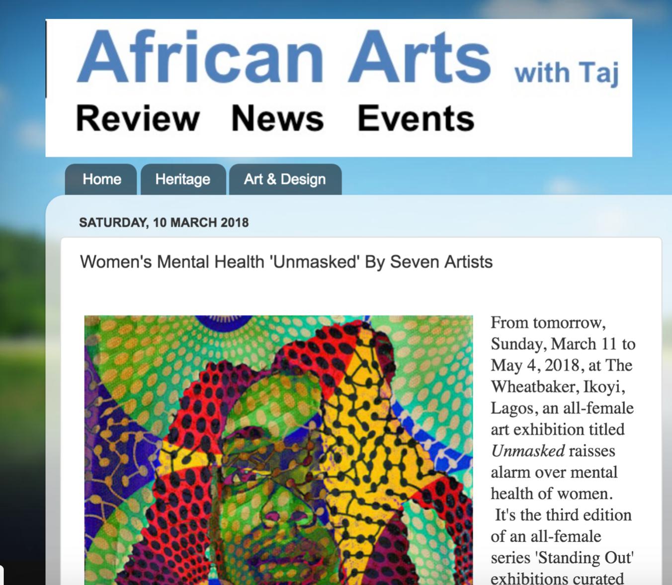 AFRICAN ARTS WITH TAJ