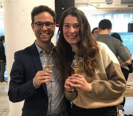 Danilo with Gvantsa, Baia's sister who makes organic red wine