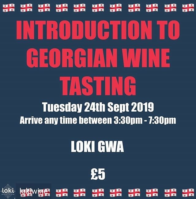 Reposted from @lokiwine - Georgian Wines are rapidly increasing in popularity, so for those of you keen to learn (and taste!) a little more from the country that has been producing wine, even before the French & the Italians, well, this may just be your opportunity!  In this tasting your ticket will permit you to come in at any time between 3:30 & 6:30pm and try a selection of these wines at your leisure. This will be followed by an hour tutored tasting at 6:30pm where you will be talked through the different wines and be given an introduction to these fascinating wines.  This tasting is an absolute bargain at only £5 a ticket as it is supported by Georgian vineyards, so is a great chance to explore these wines at a ridiculously low price.  http://bit.ly/GeorgianWineTasting  @gvinouk . #gvinouk #georgianwineuk #birmingham