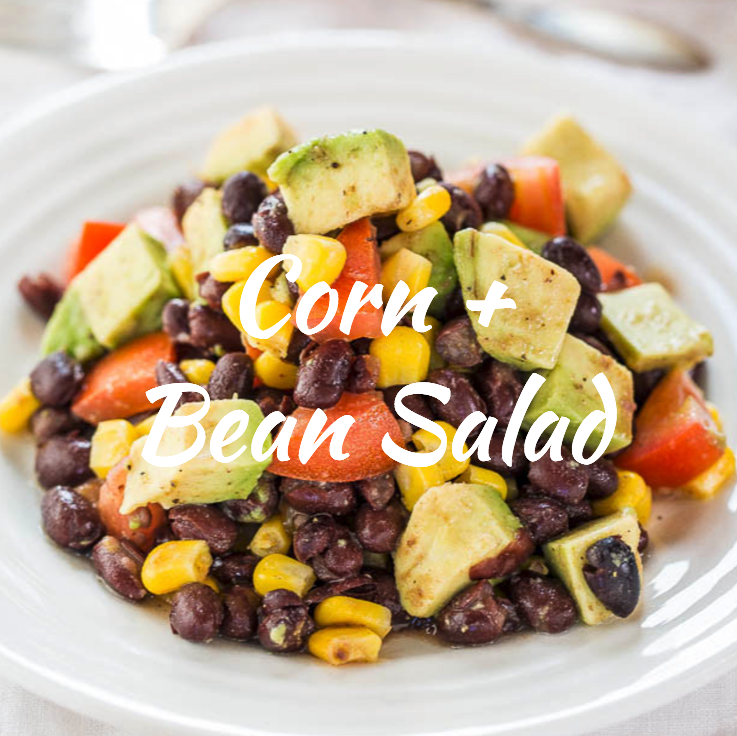 This type of salad is always a hit. It's fiber, protein and healthy fat keeps you full and the fresh citrus flavors are super refreshing. You can add cilantro or other spices. Diced avocado, black beans, fresh corn, cilantro, tomatoes, add your own spin!