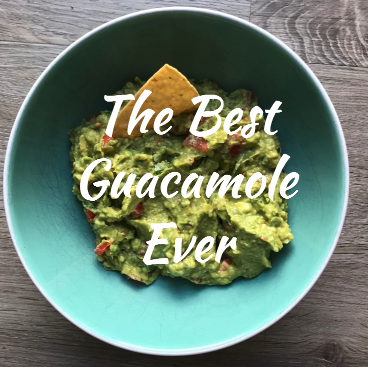 I have to say, I make BOMB guacamole. Avocados, tomato, red onion, cilantro, lime juice, salt and TJ's Chili Lime seasoning, SO good. You can add peppers for a little spice too. It's so easy, filling and guilt free (when you share it). Pace yourself on the chips!