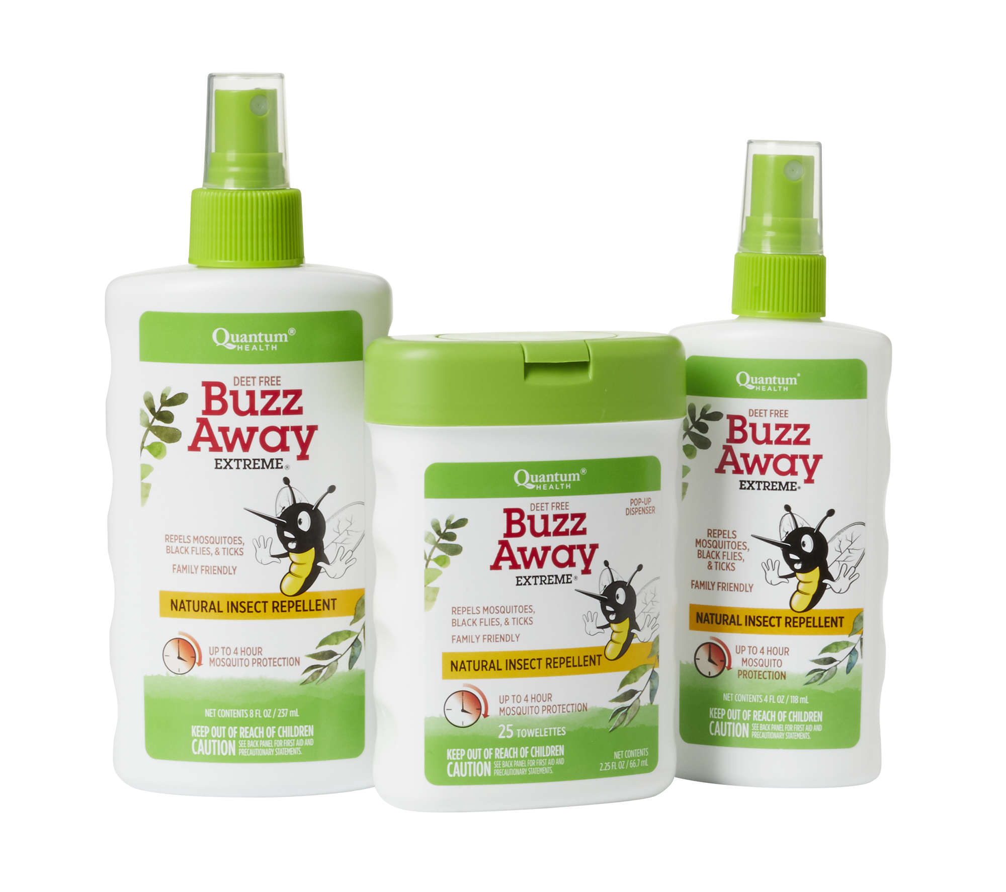 Gear up with Buzz Away products!