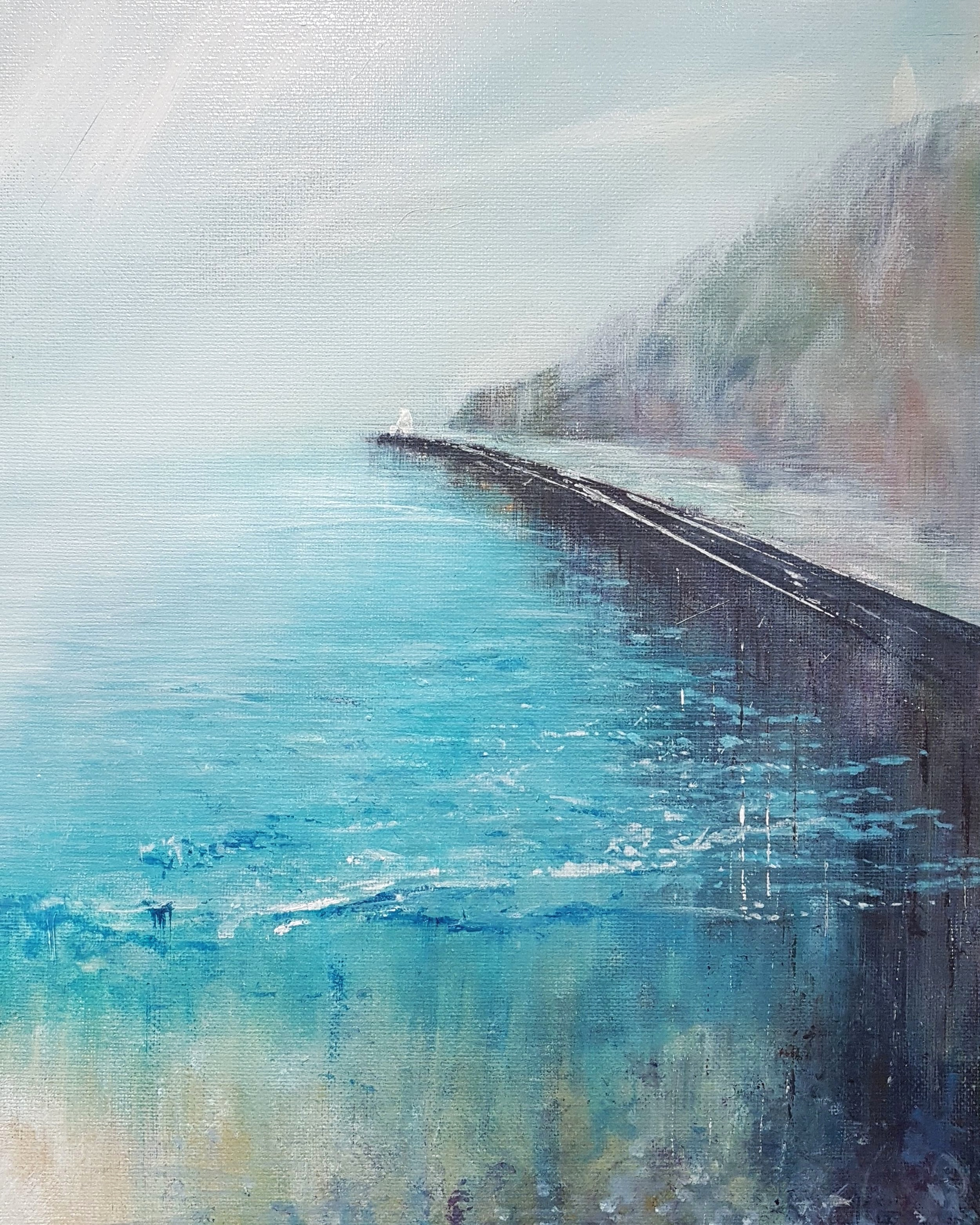 Portreath Harbour Wall - Limited Edition size of 5025cm x 35.5cm£45
