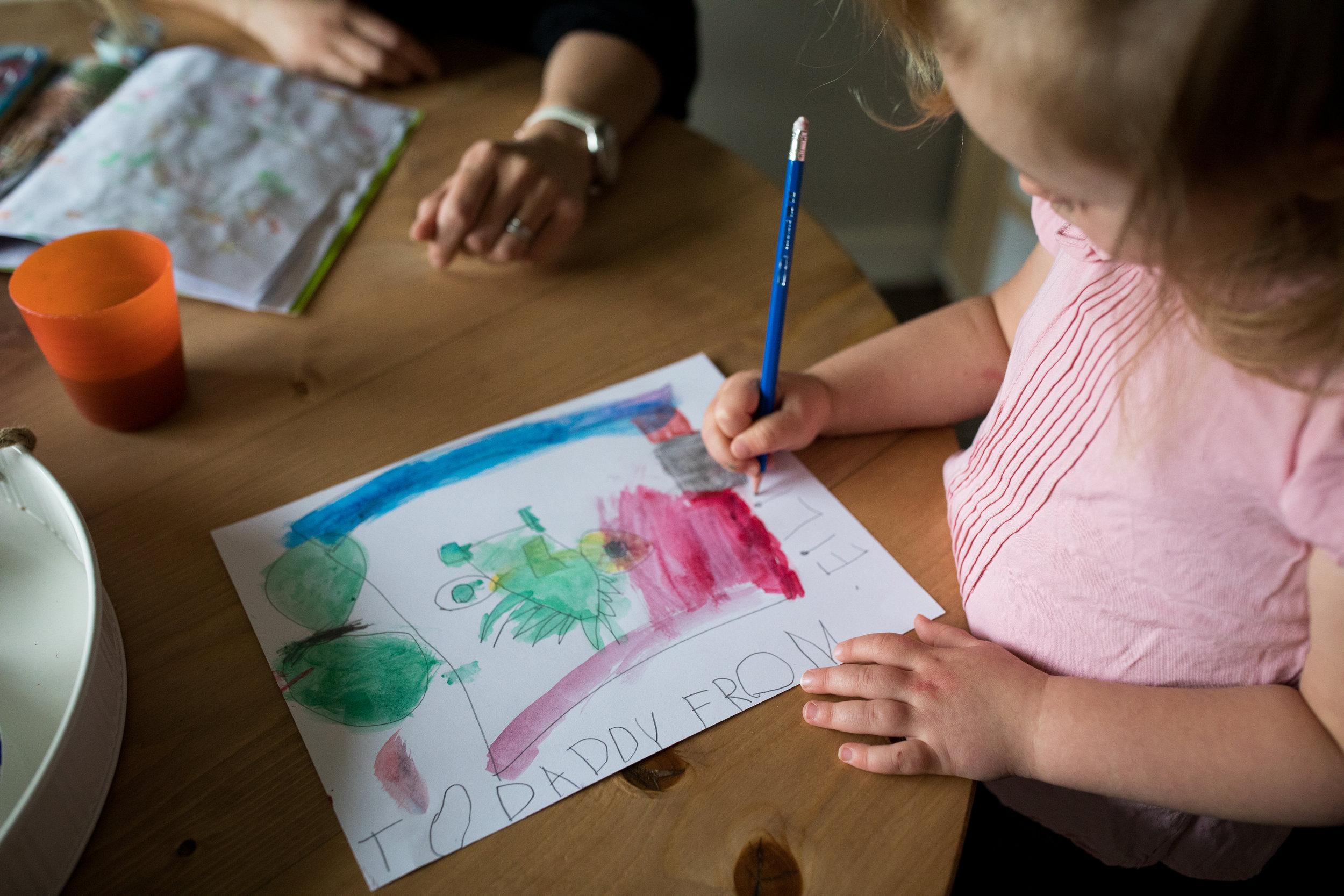toddler artwork for daddy