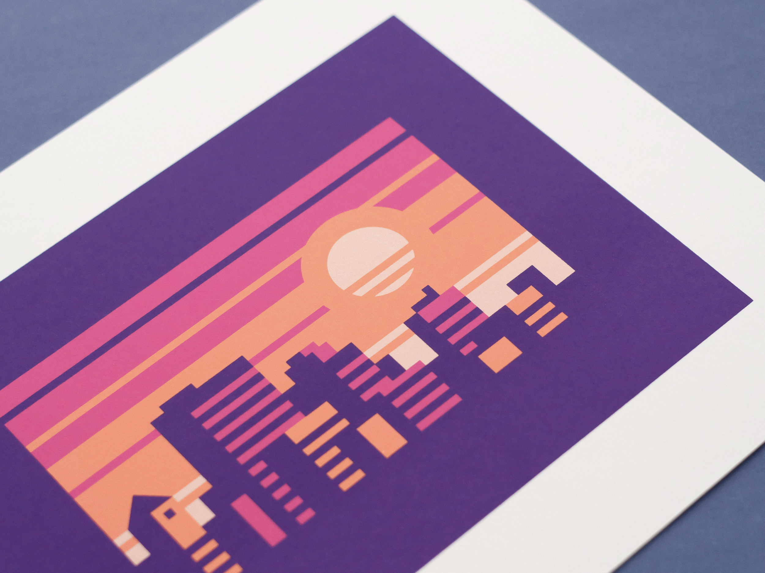 Ametrine - Abstract city prints by Canopy Design and Illustration