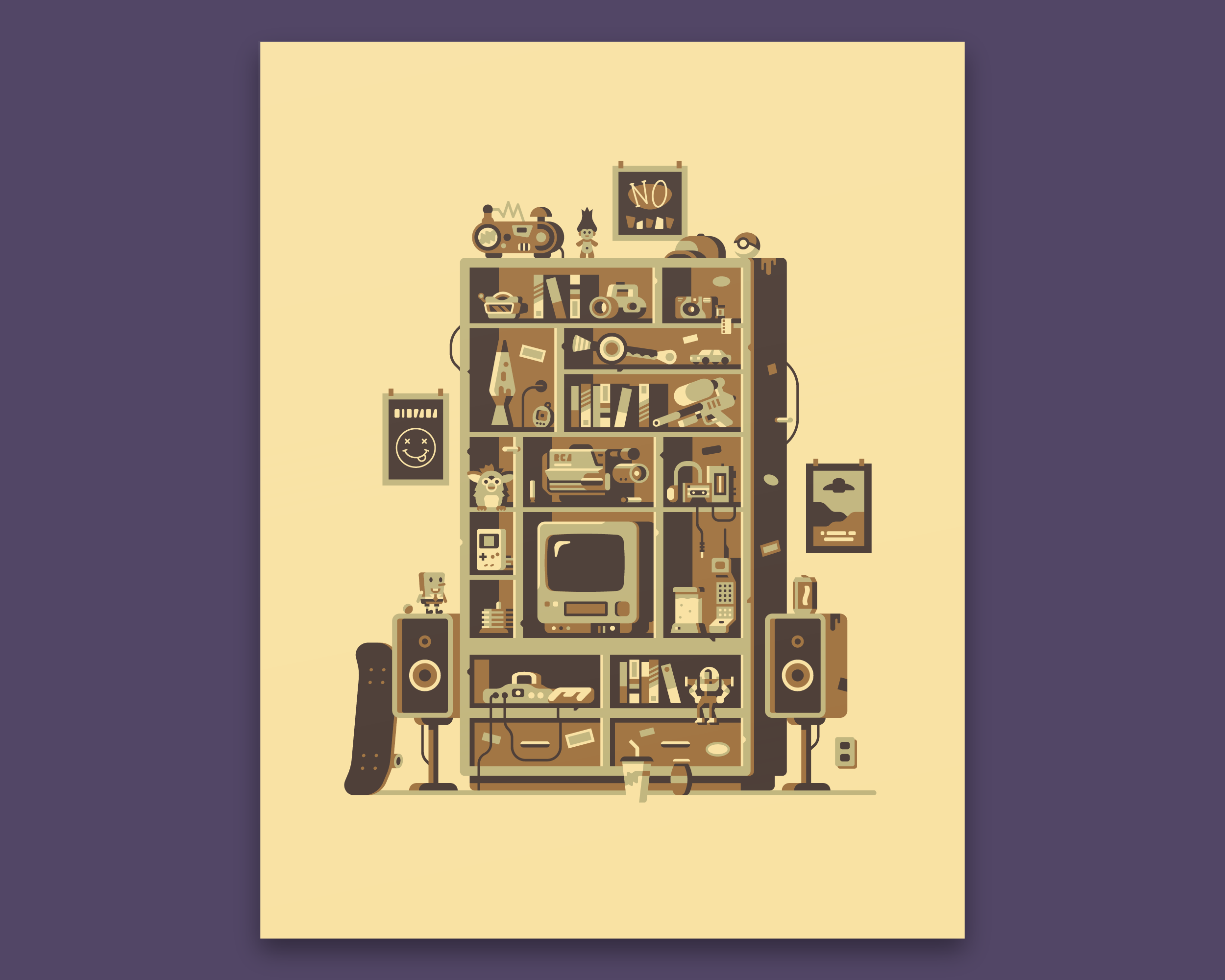Gallery 1988 90s print by Canopy Design and Illustration