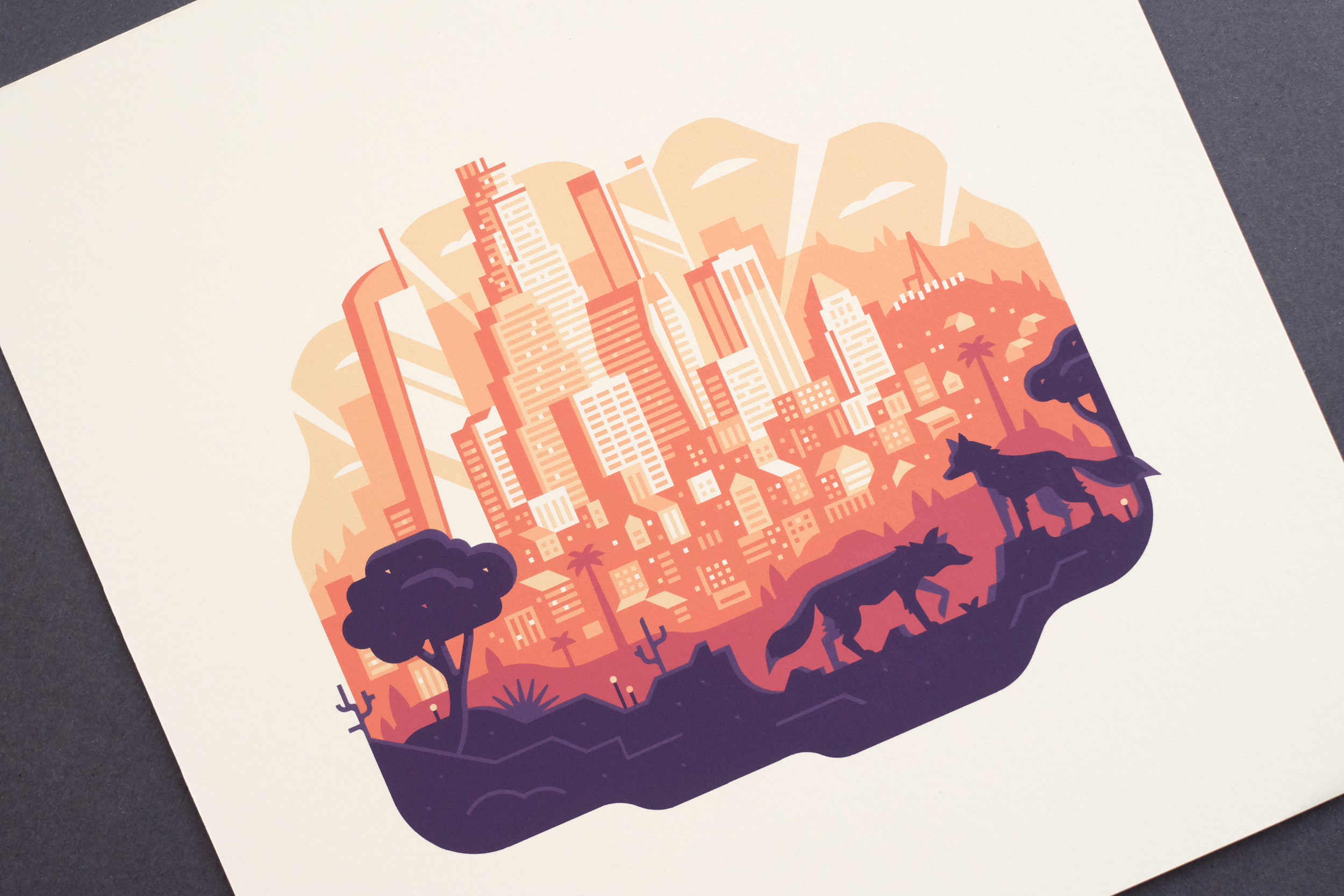 Gallery 1988 Los Angeles print by Canopy Design and Illustration