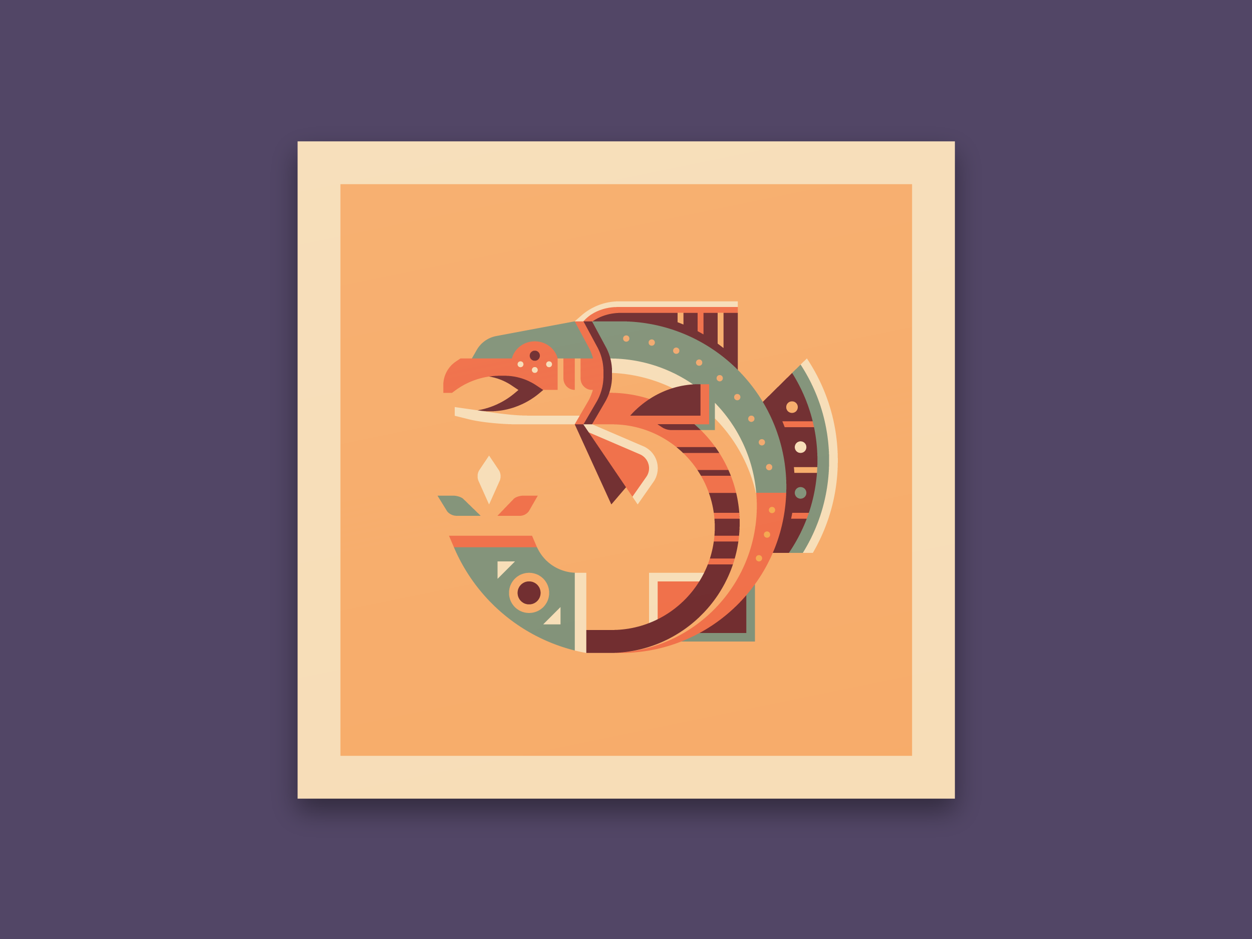 Salmon - Totems print series by Canopy Design and Illustration
