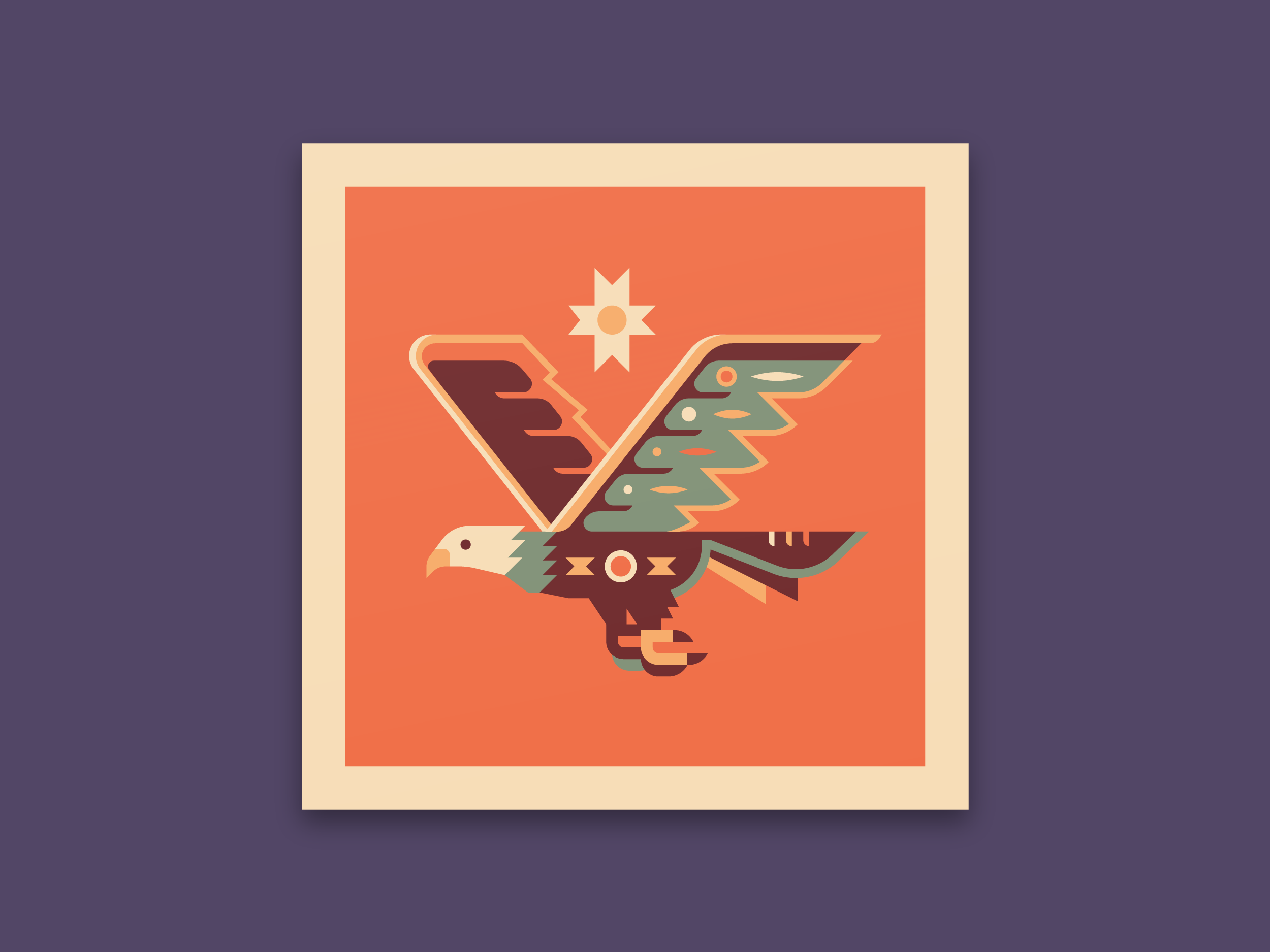 Eagle - Totems print series by Canopy Design and Illustration