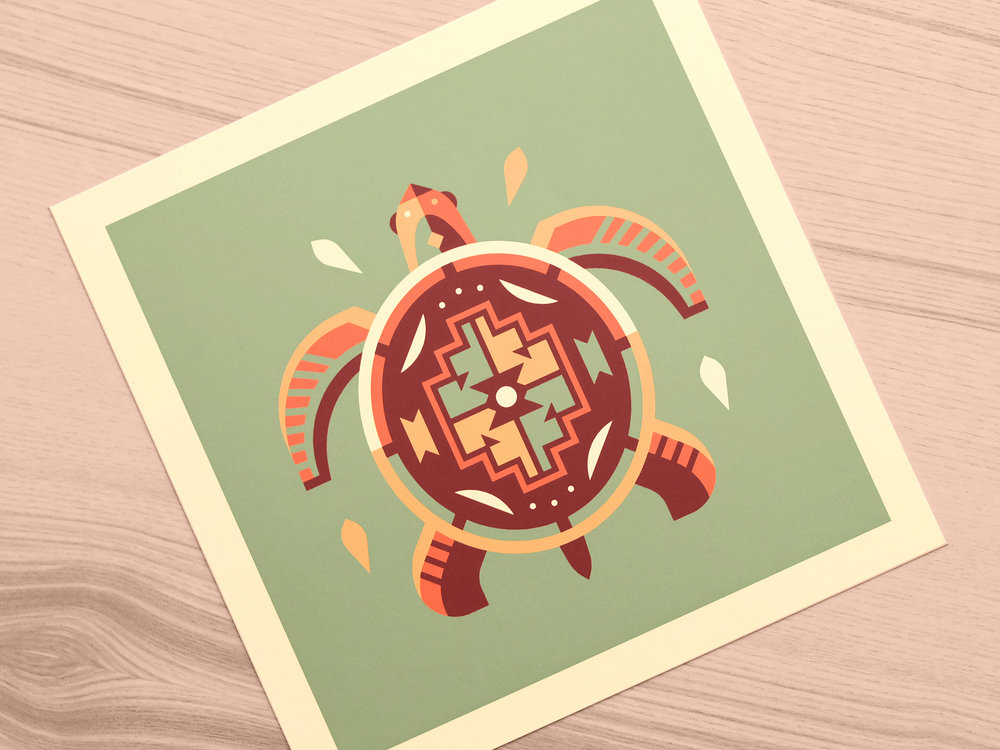Turtle - Totems print series by Canopy Design and Illustration