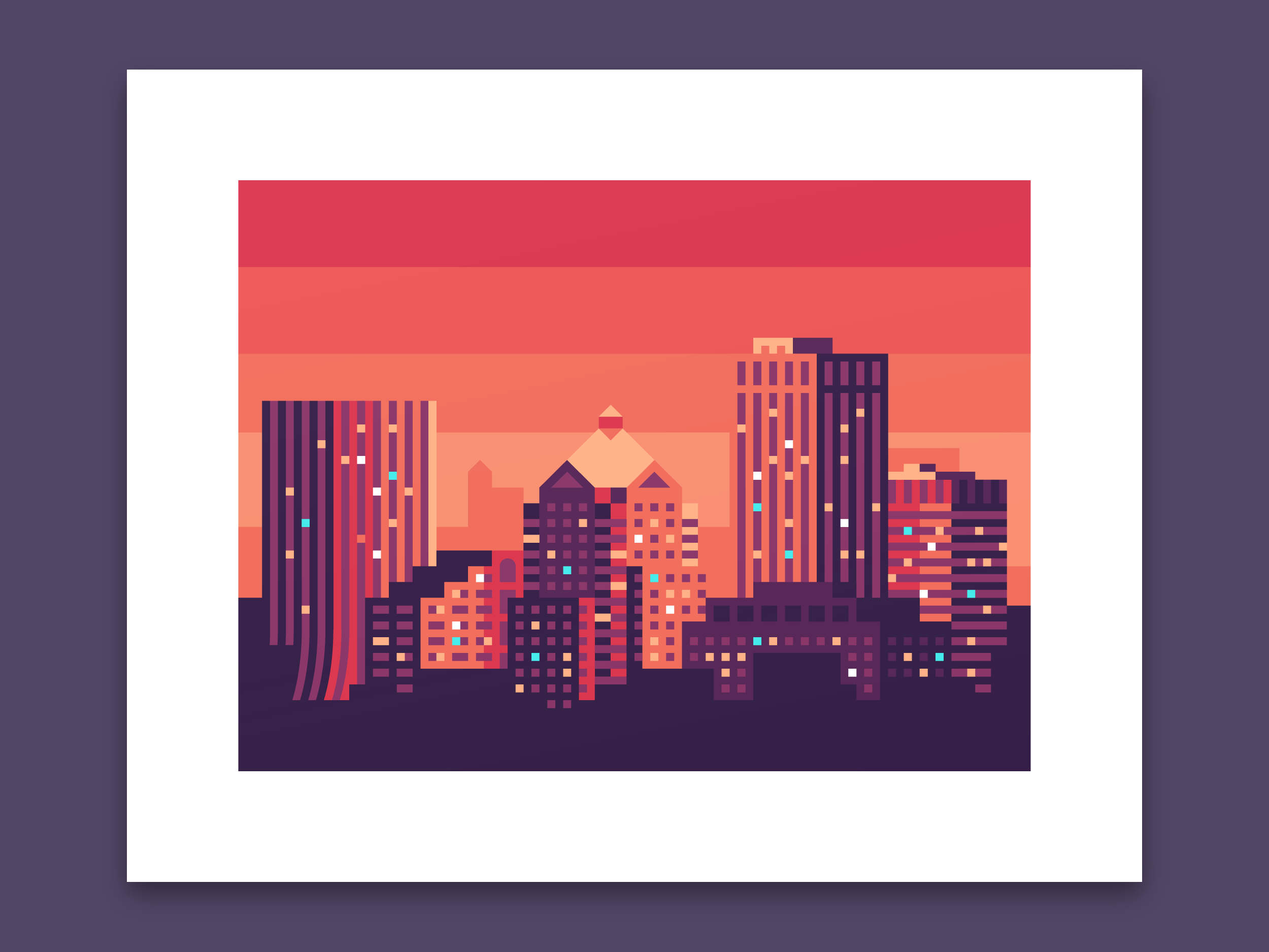 Rochester, New York skyline print by Canopy Design and Illustration