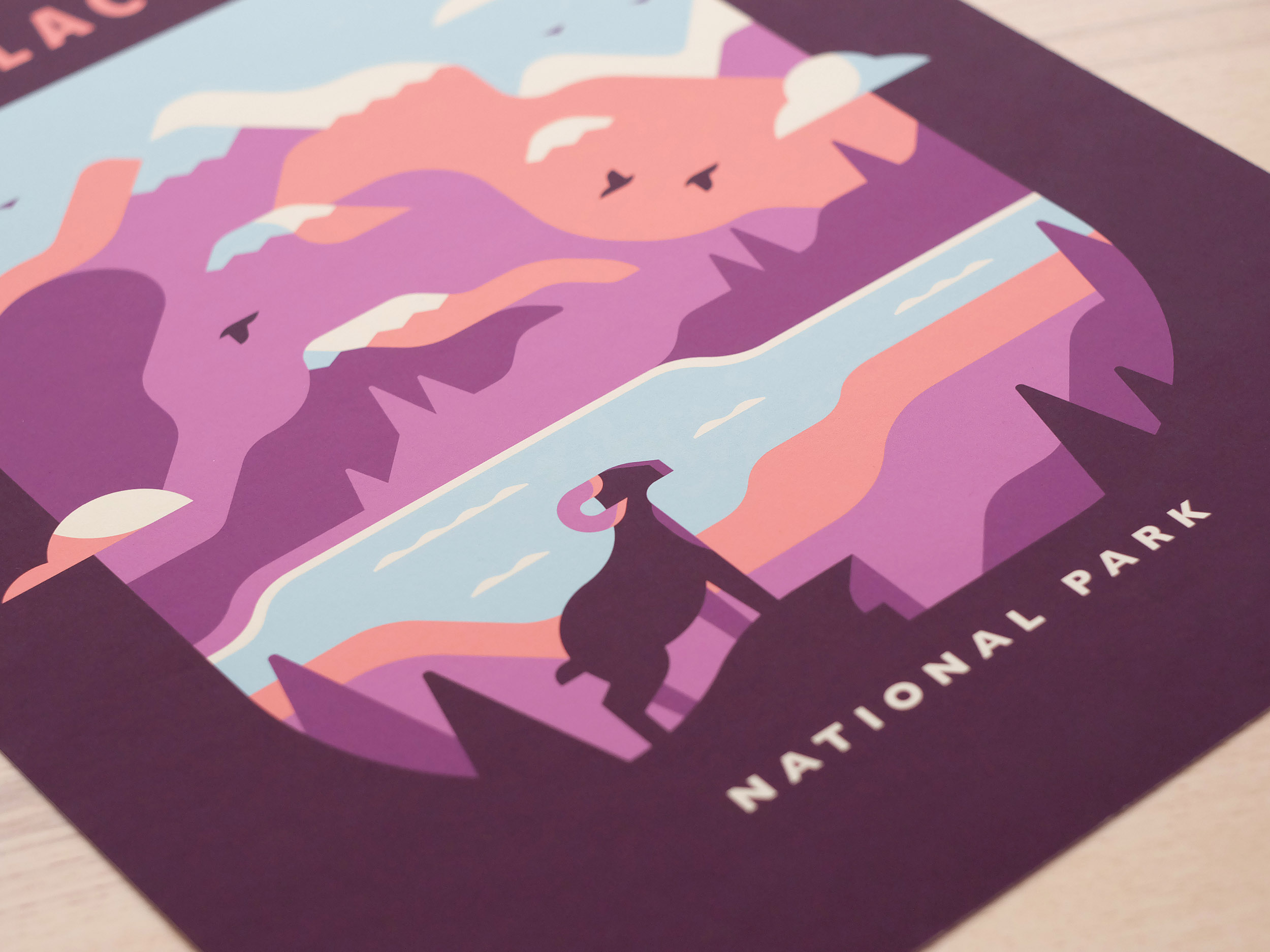 Glacier - National Parks prints and posters by Canopy Design and Illustration