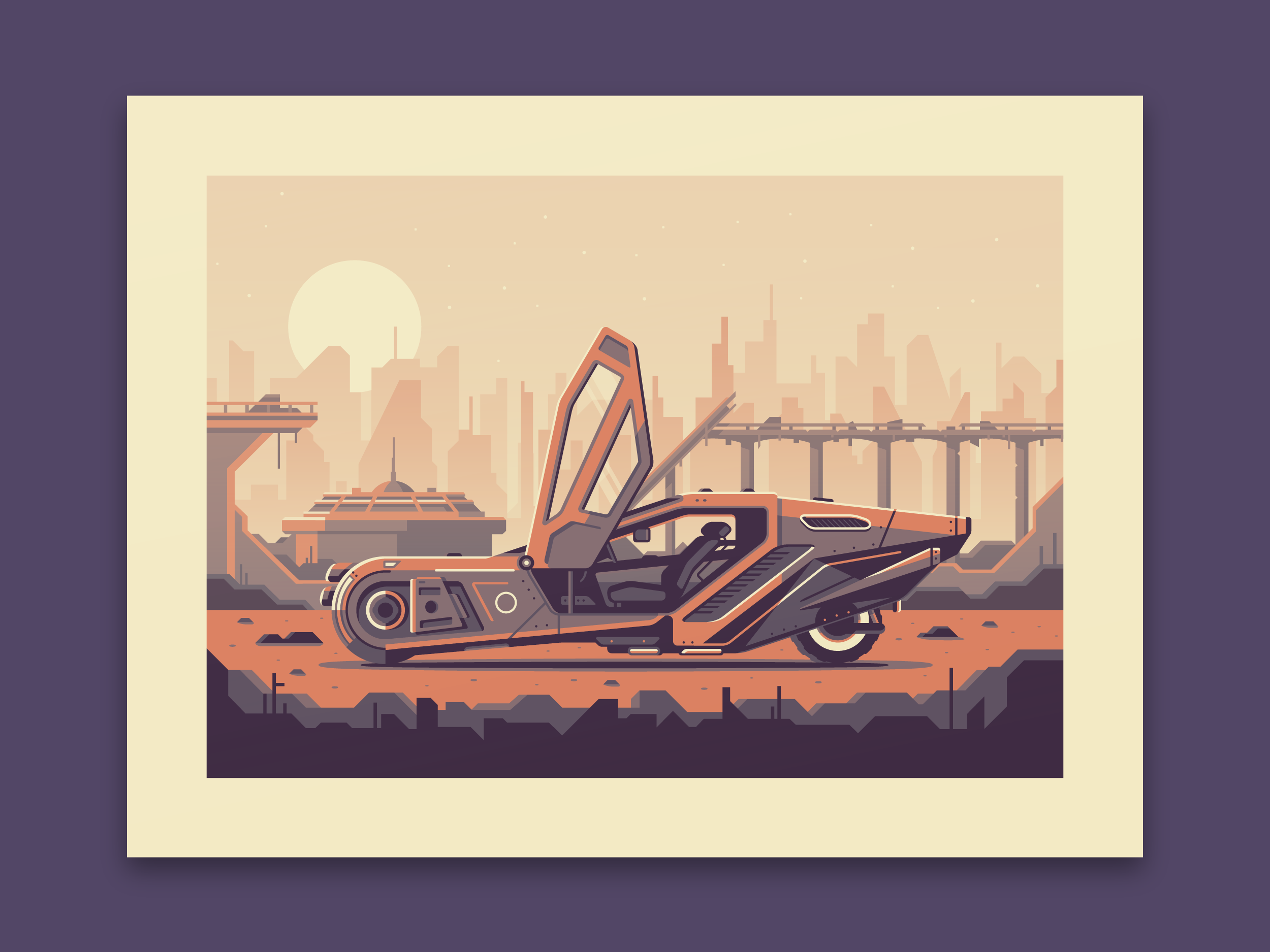 Bladerunner 2049 art print by Canopy Design and Illustration