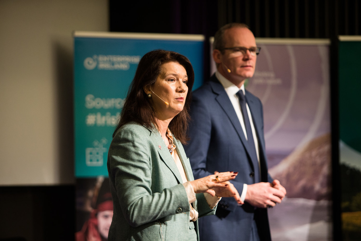 Ireland's Deputy Prime Minister and Minister for Foreign Affairs  Simon Coveney  and Sweden's Minister for European Union Affairs and Trade  Ann Linde  at the inaugural event organised by the Irish Chamber of Commerce in Sweden. The event theme was Brexit and the implications for business. Click on the image for more.