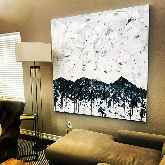 New living room piece! #largescaleart #abstractpainting #artonwalls #originalart