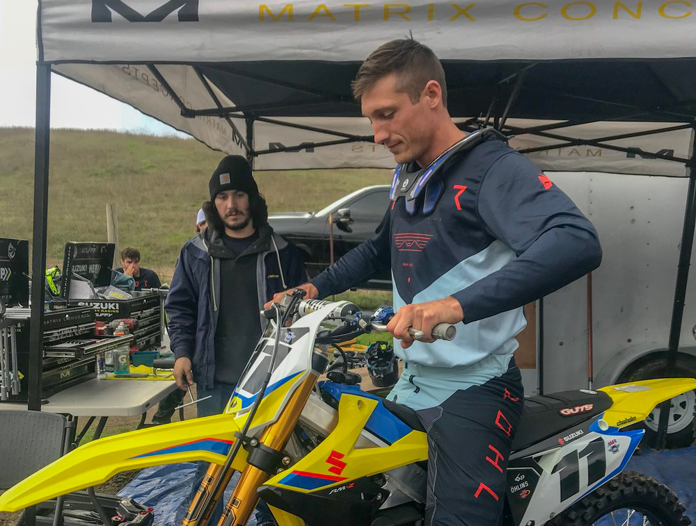 Kyle Chisholm - Born:12/06/87From: Clearwater, FloridaCurrent Residence: Valirco, FloridaHobbies: Golfing, Fishing, training, and playing with his kids.What do you like about the 2019 RMZ 450 Suzuki?I really enjoy riding the Suzuki 450. The power, the handling and the turning of the bike is top notch!Most memorable moment racing:My most memorable moment racing was winning the Paris/Bercy SX back in 2011 with my dad as my mechanic.Facebook: Kyle ChisholmInstagram: Kyle Chisholm11Twitter: Kyle Chisholm