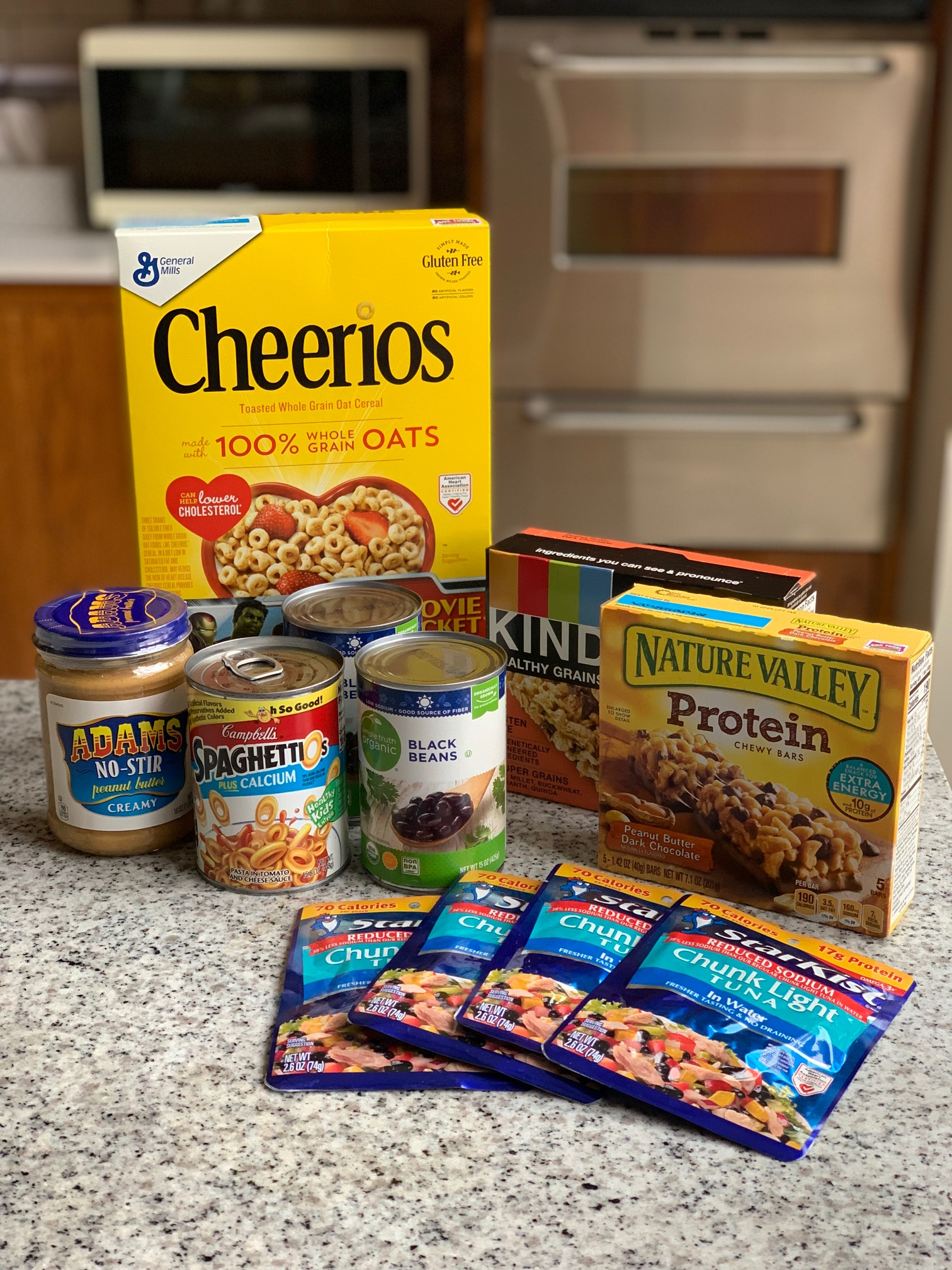 Examples of non-perishable goods to donate to local food banks or food drives.