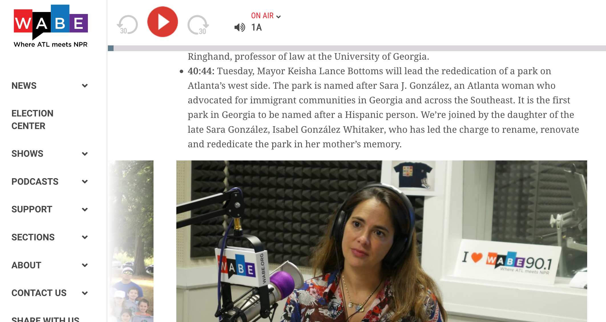 Closer Look with Rose Scott radio segment, WABE/NPR, 10/8/18