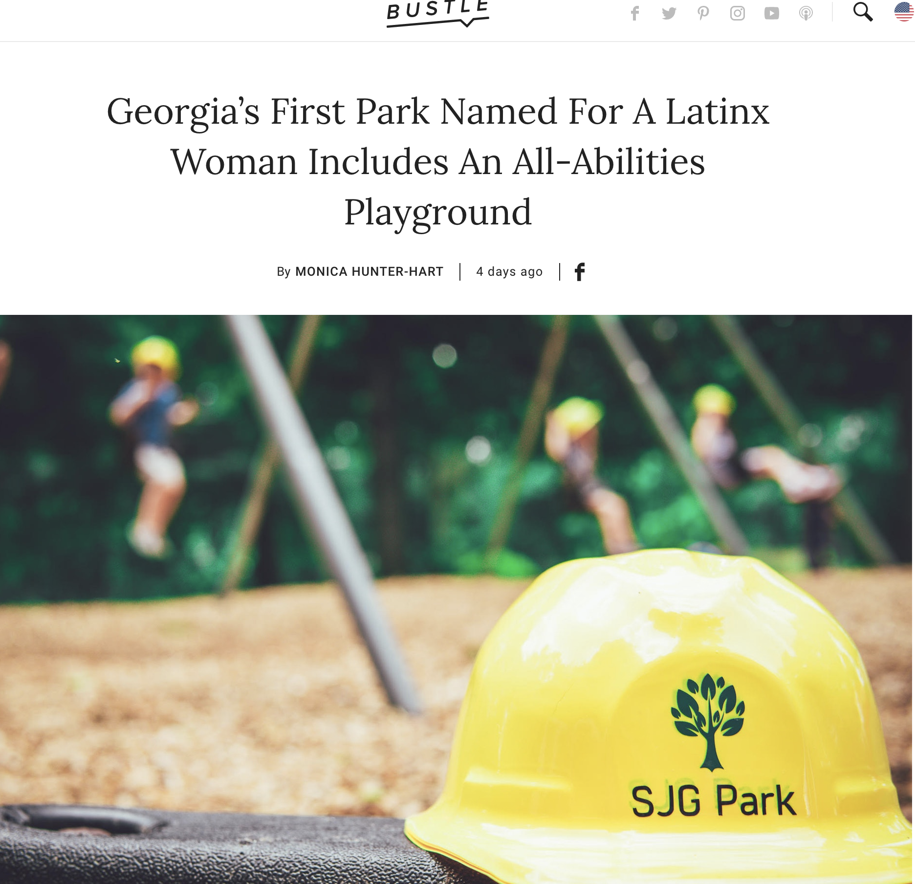 Georgia's First Park Named For A Latinx Woman Includes An All-Abilities Playground,  October, 2018, Bustle