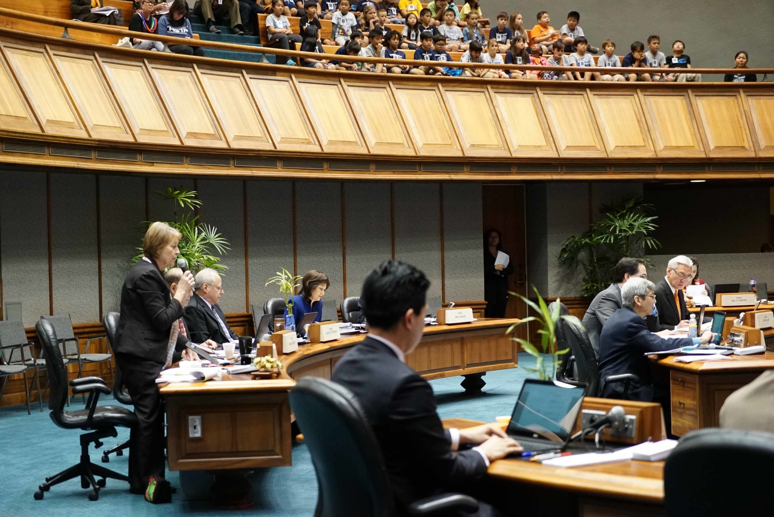Hawaii State Senators passed more than 400 bills on third reading.  (March 7, 2018)
