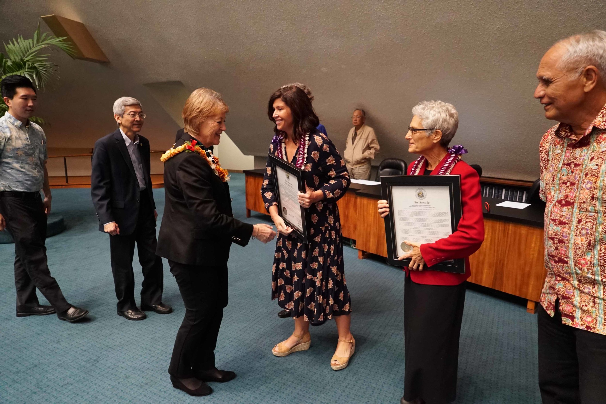 The Windward Zero Waste Hui was recognized by the State Senate for their work in food waste recovery and food security.  (March 9, 2018)