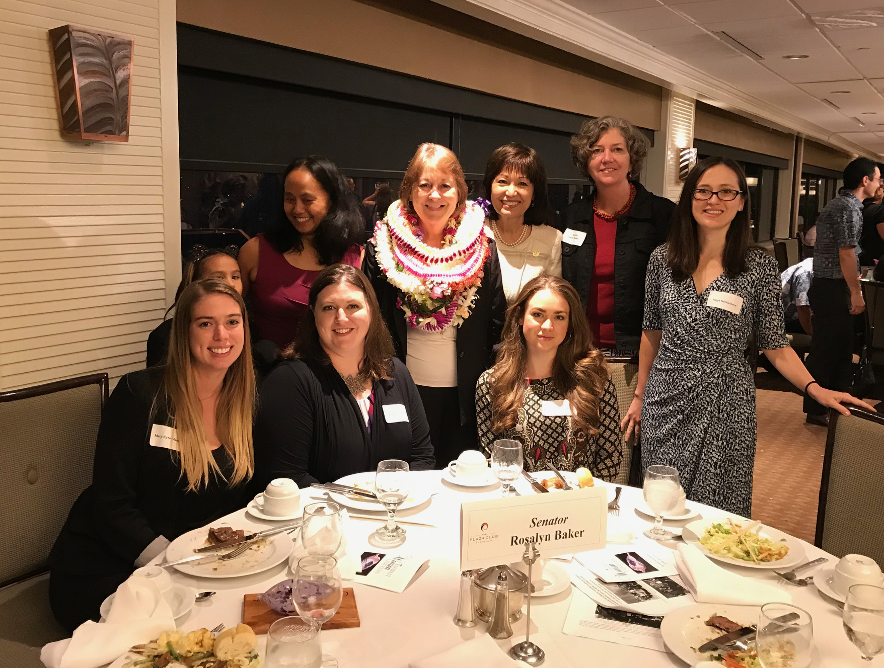 Hawaii Women Lawyers Board presented Roz with their 2018 Hawai'i Women Lawyers President's Award for her dedication and accomplishments on women's issues during her years in the Legislature.  (April 12, 2018)