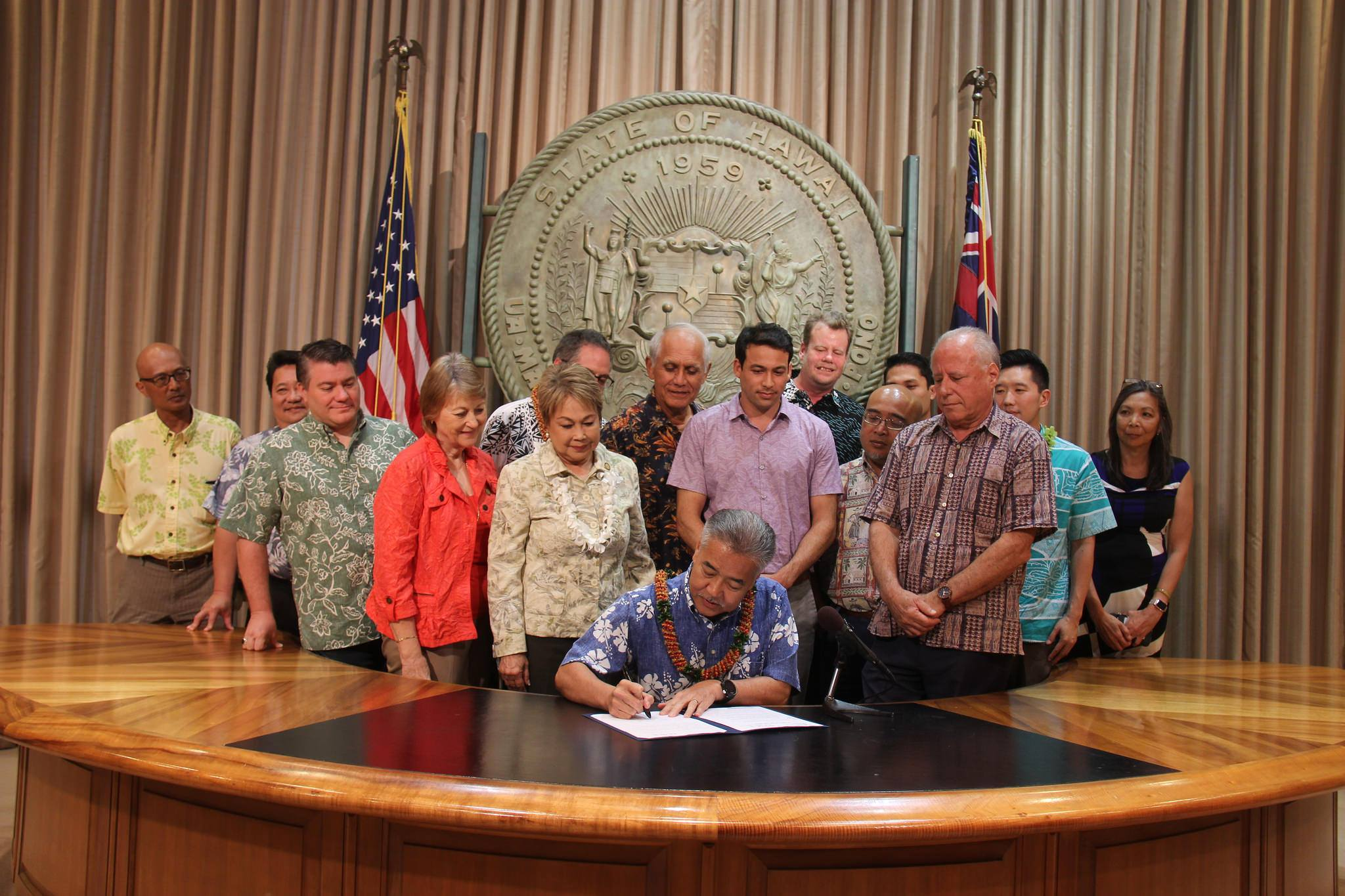 Governor David Ige signed SB3095 into law as Act 45 which creates pesticide free buffer zones around schools. (June 13, 2018)
