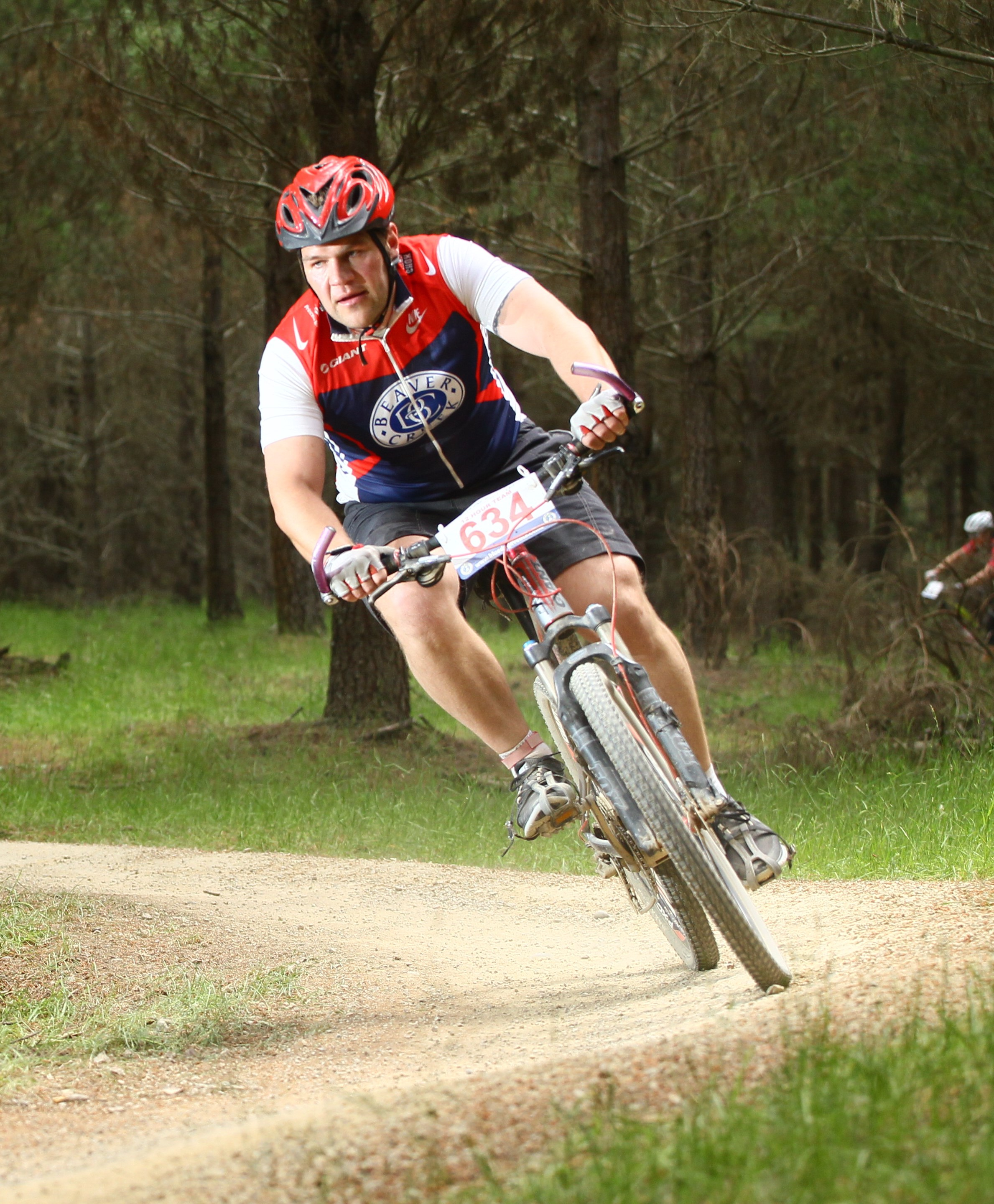 Shannon Goldsmith competes in a recent mountain bike race.