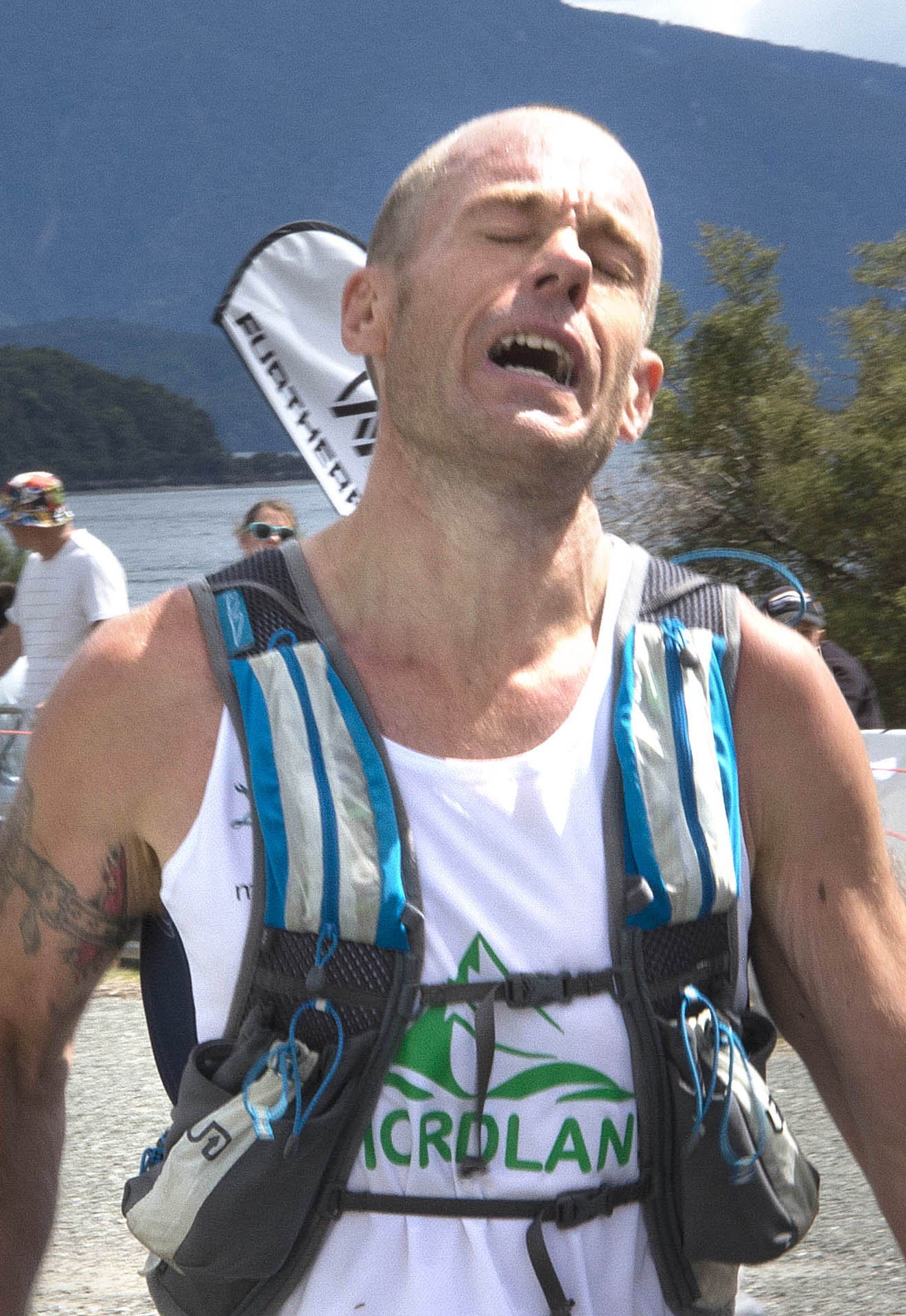Photo: Dwight Grieve completes the Kepler Challenge. Pic: Barry Harcourt.