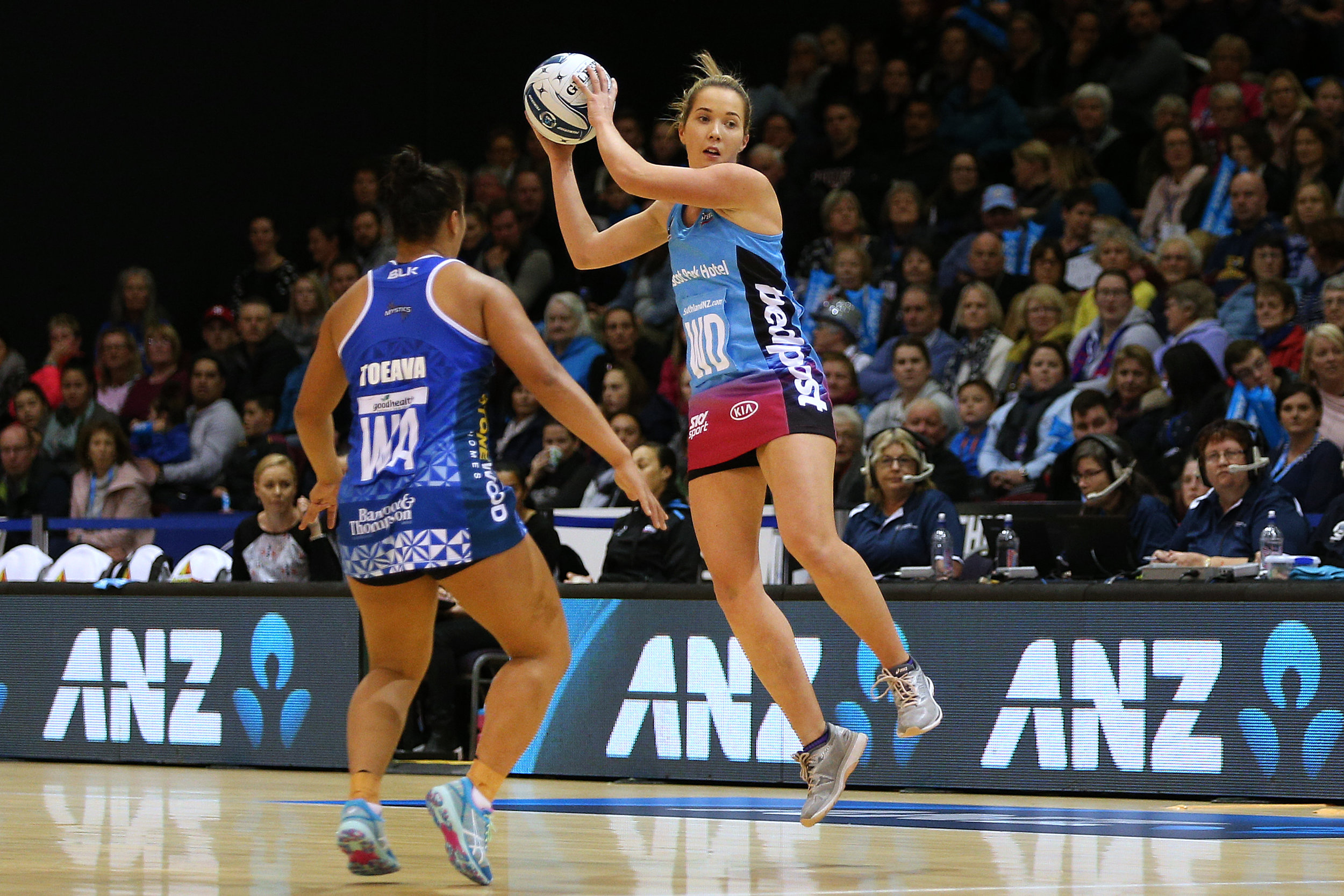 Photo: Kendall McMinn in action for the Ascot Park Hotel Southern Steel in the 2018 ANZ Premiership. Pic: Dianne Manson