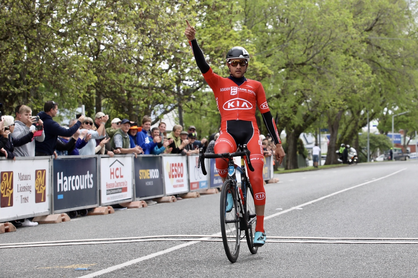 Photo: Canadian James Piccoli wins his second stage of the 2018 SBS Bank Tour of Southland, from Invercargill to Gore. Pic: James Jubb/Studio Jubb
