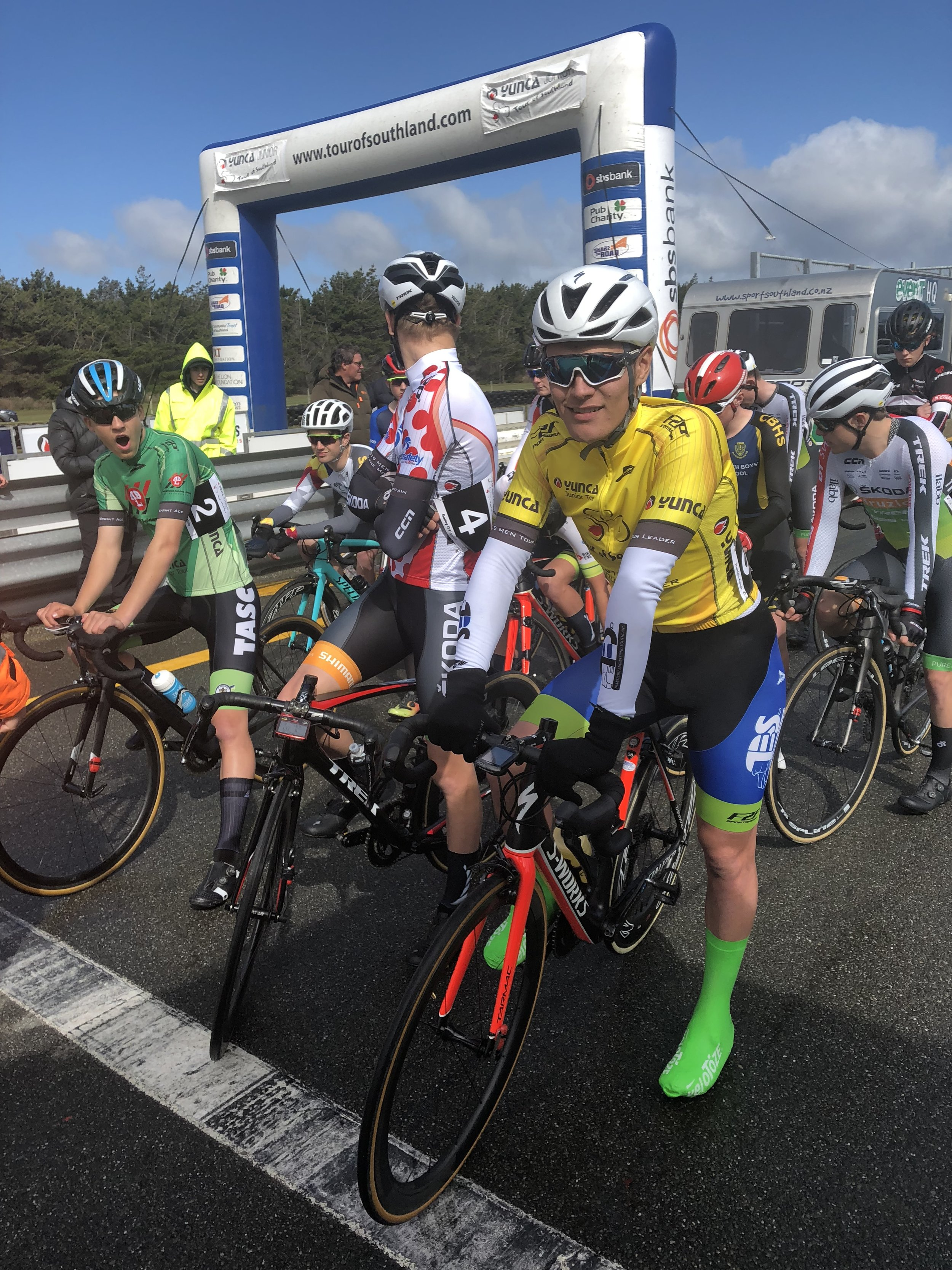 Photo: On the start line at last year's Yunca Junior Tour of Southland. Pic: Cycling Southland