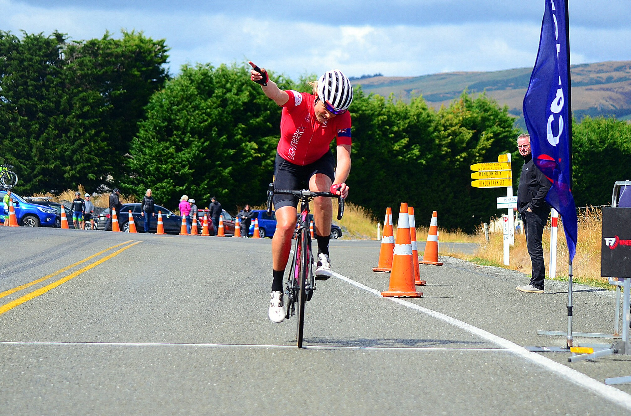 Photo:  Kate McIIroy continued her run of success in Dunedin making it three winning years in a row as the Calder Stewart Cycling Series kicked off in today with the Midway Motors Dunedin Classic. Pic: Rachel Harris