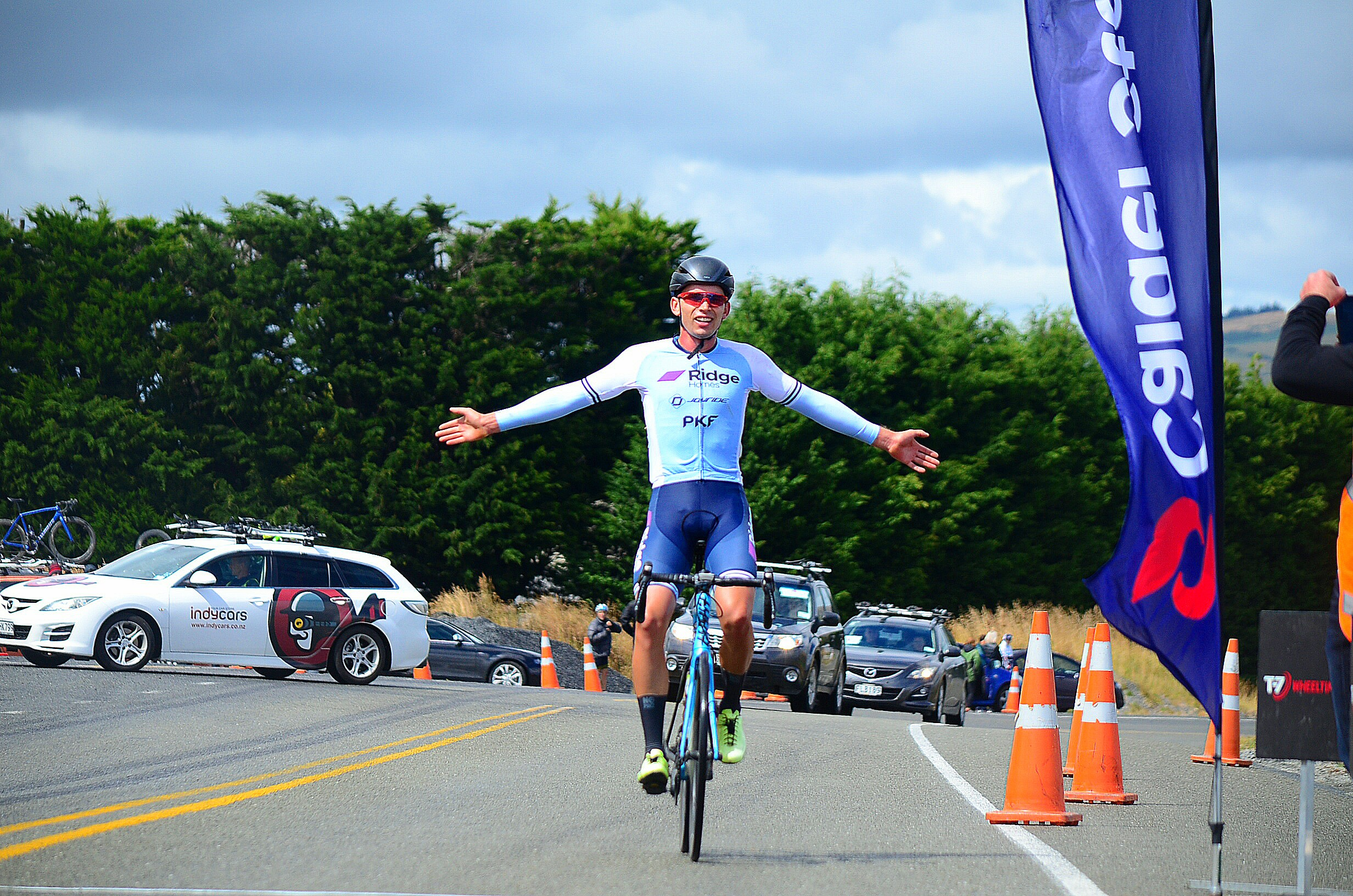 Photo:  Nelson cyclist climb Ethan Batt had an impressive climb to claim his first win in the Calder Stewart Cycling Series the Mid Way Motors Dunedin Classic. Pic: Rachel Harris