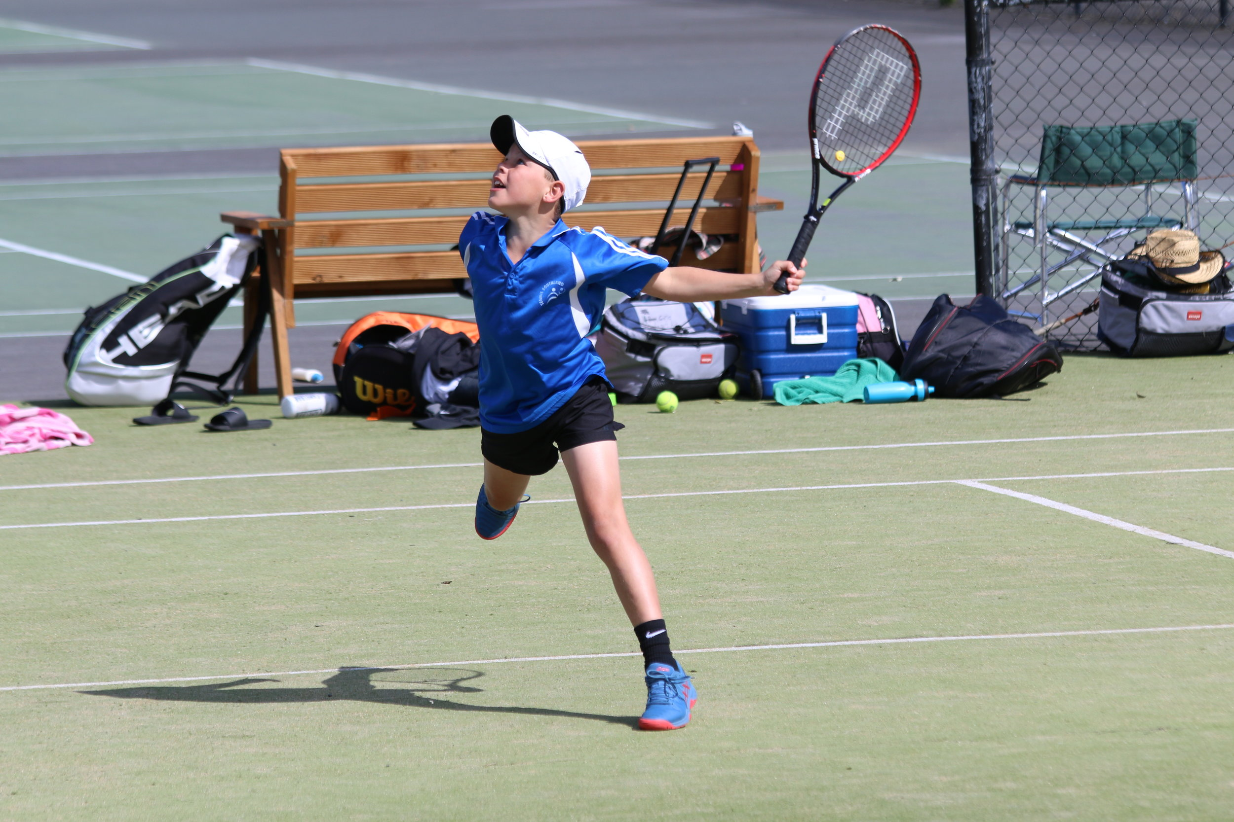 Photo: Daniel Munro debuted for the Southland 10 and under boys team at a recent Southern Junior Teams event. Pic: Tennis Southland