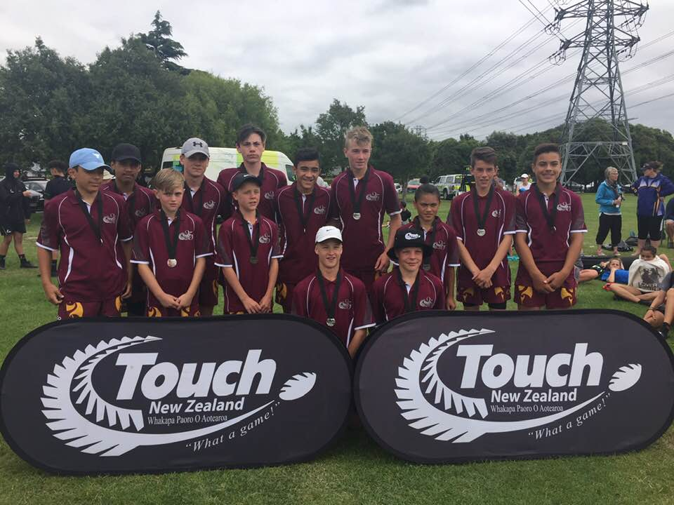 Photo: Southland U14 Boys team who claimed silver at the 2018 SI IPS. Pic: Touch Southland