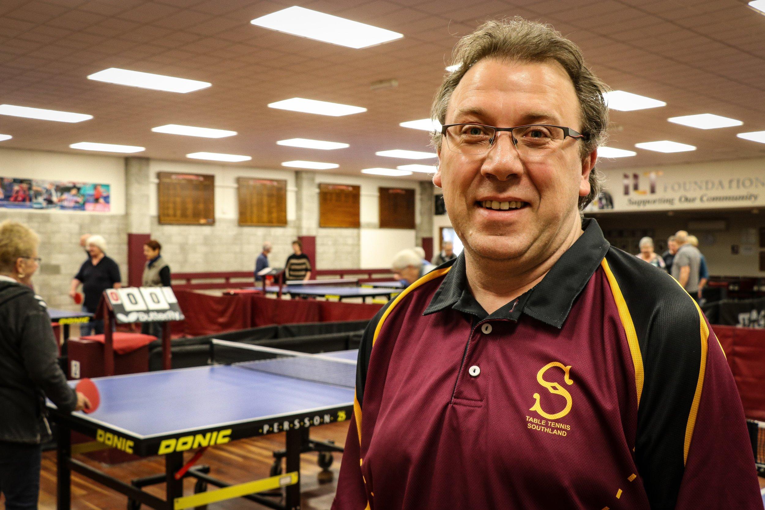 Photo: Tennis Southland operations manager Wayne McEwan. Pic: Nathan Burdon