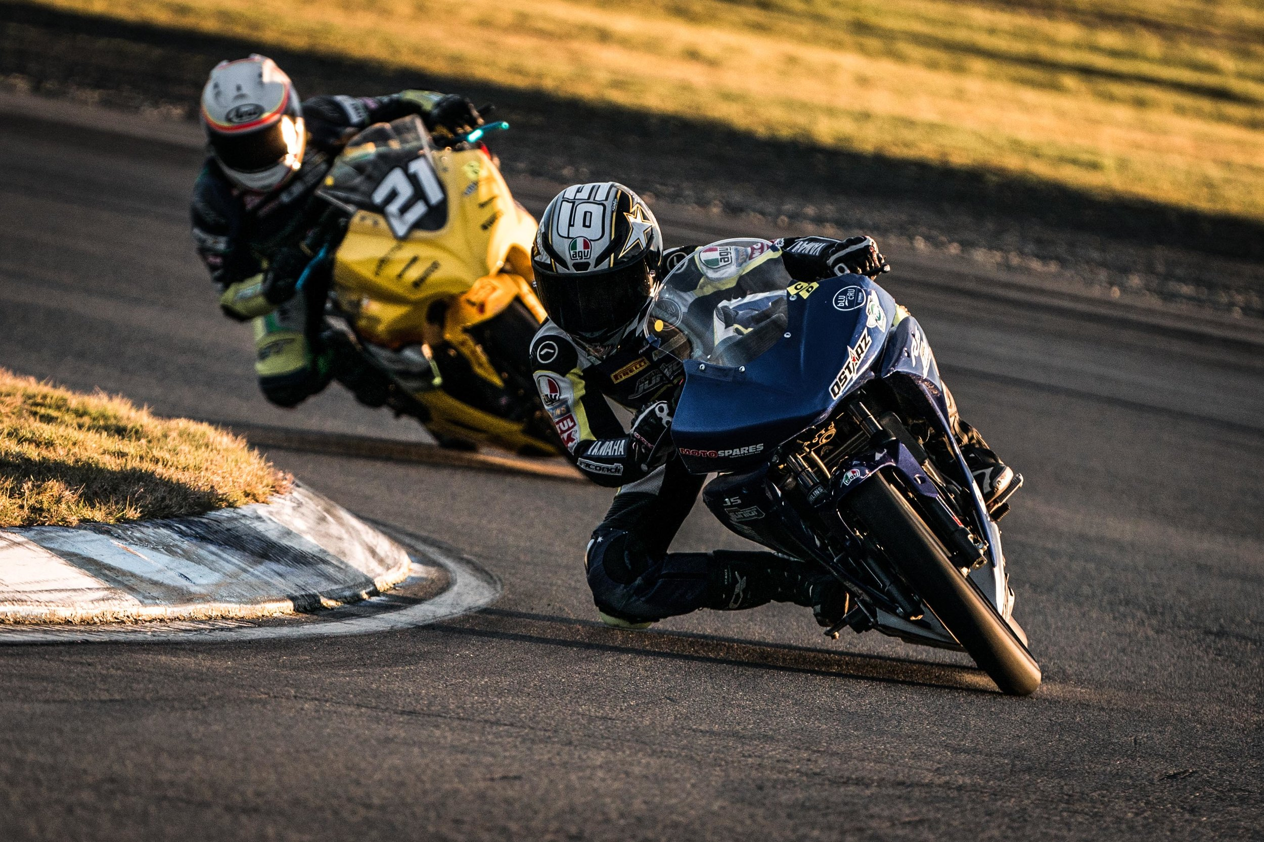 Photo: Cormac Buchanan and Avalon Biddle in action at Ruapuna Raceway, near Christchurch, on Sunday. Pic: Aaron Staples Photography.