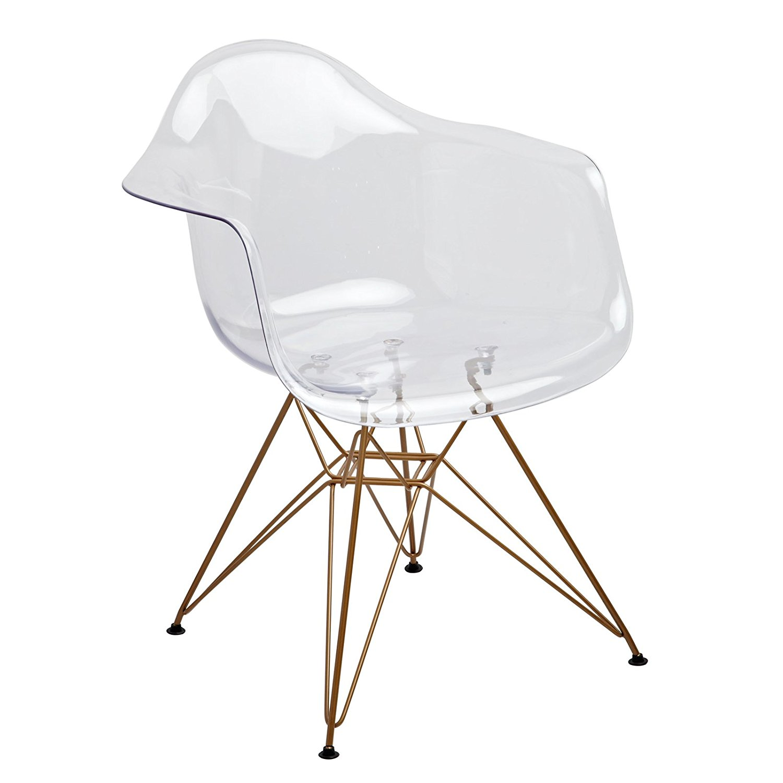 Design Guild Banks Clear Arm Chair
