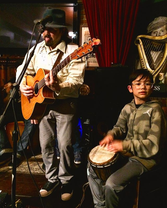 Father son jam #livemusic #vancouver @thewolfandhound