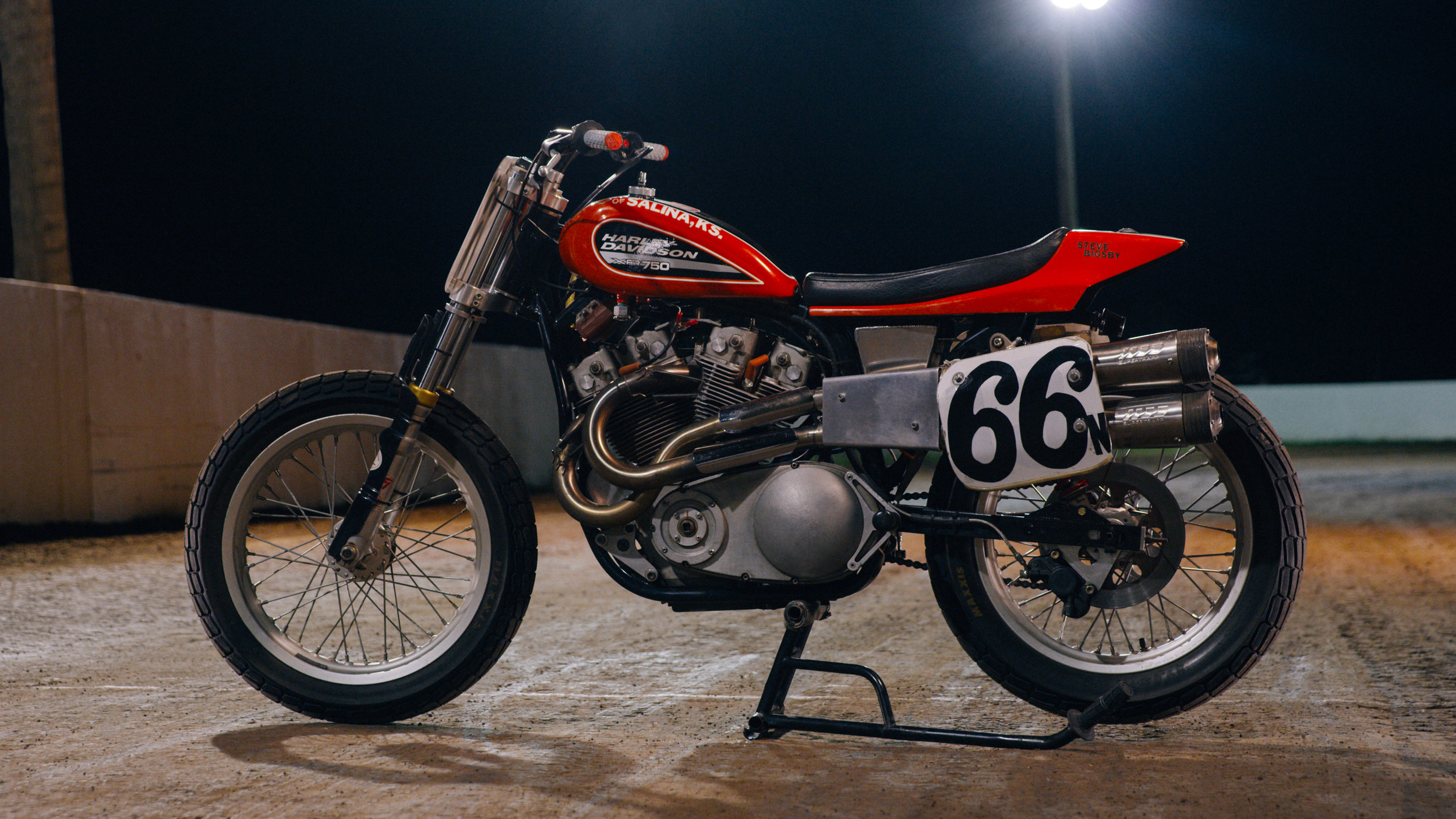 The venerable Harley-Davidson XR-750, a flat track legend.   All photos by Evan H. Senn and crew