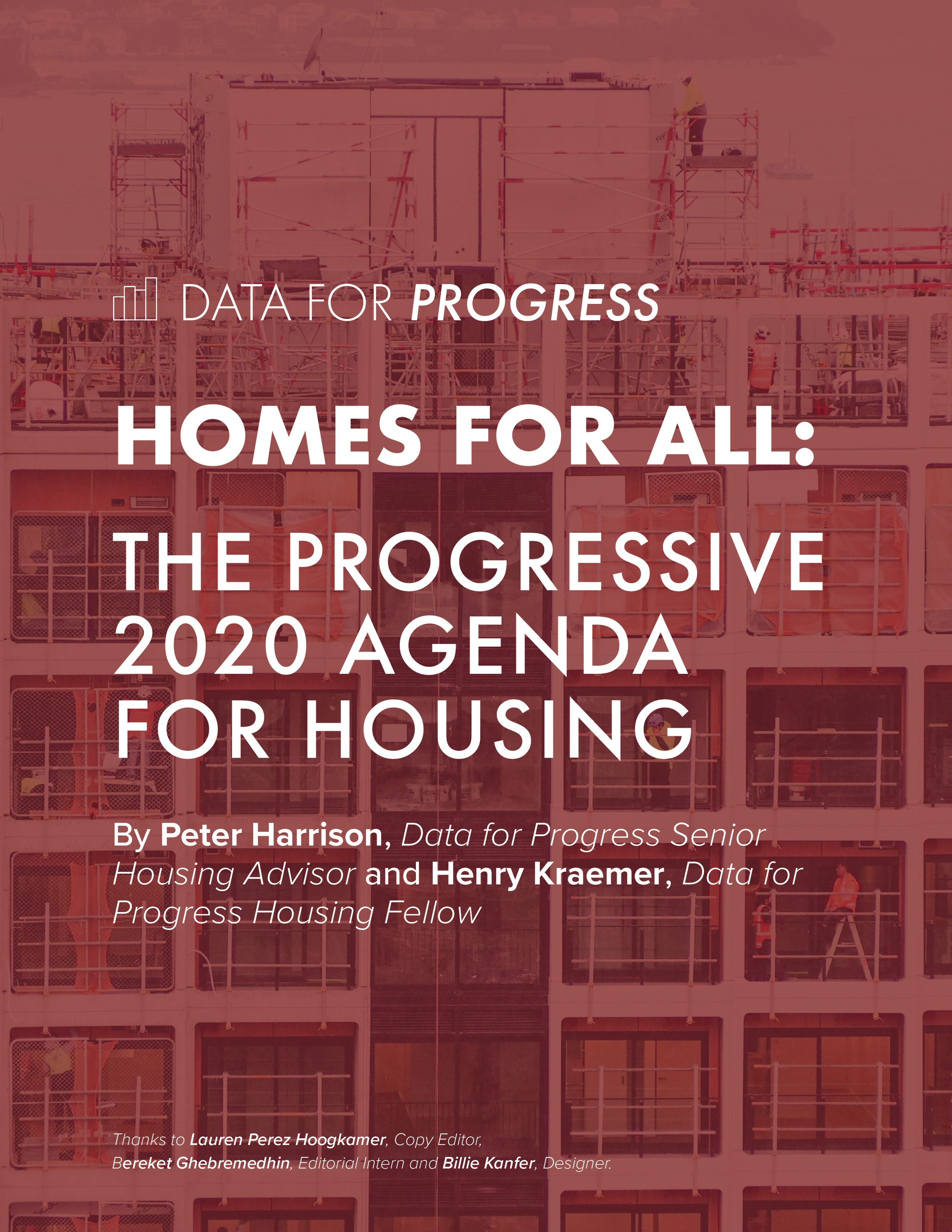 Homes for All: The Progressive 2020 Agenda for Housing