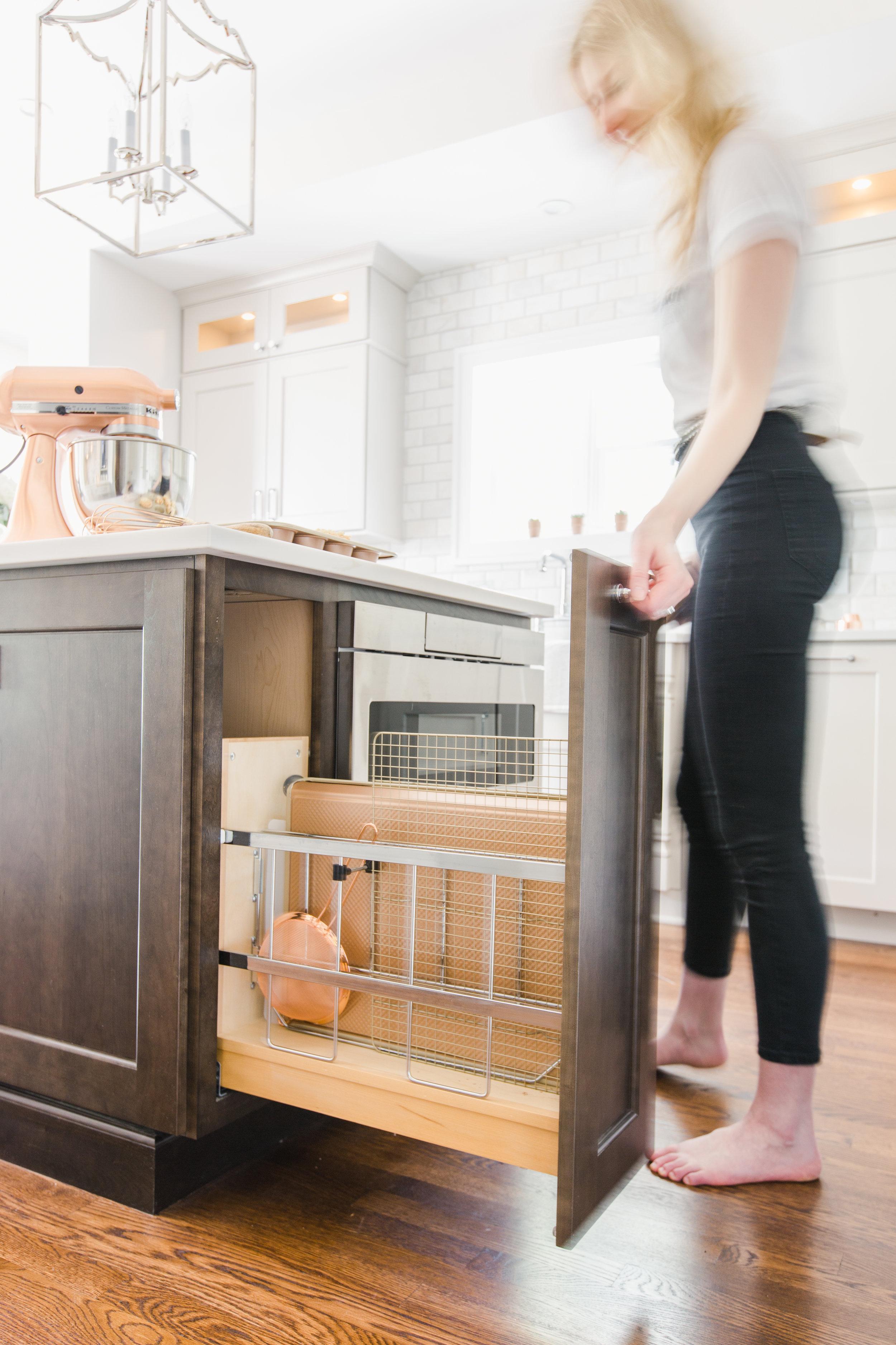 Baking Tray Cabinet Custom Kitchen Design Michigan