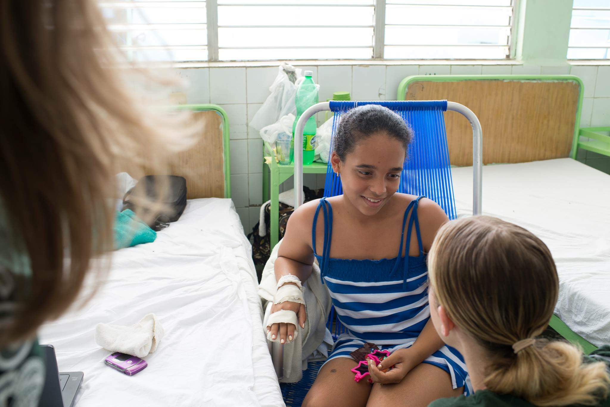 One of our great volunteers helping out in the Pediatric Ward in Havana.